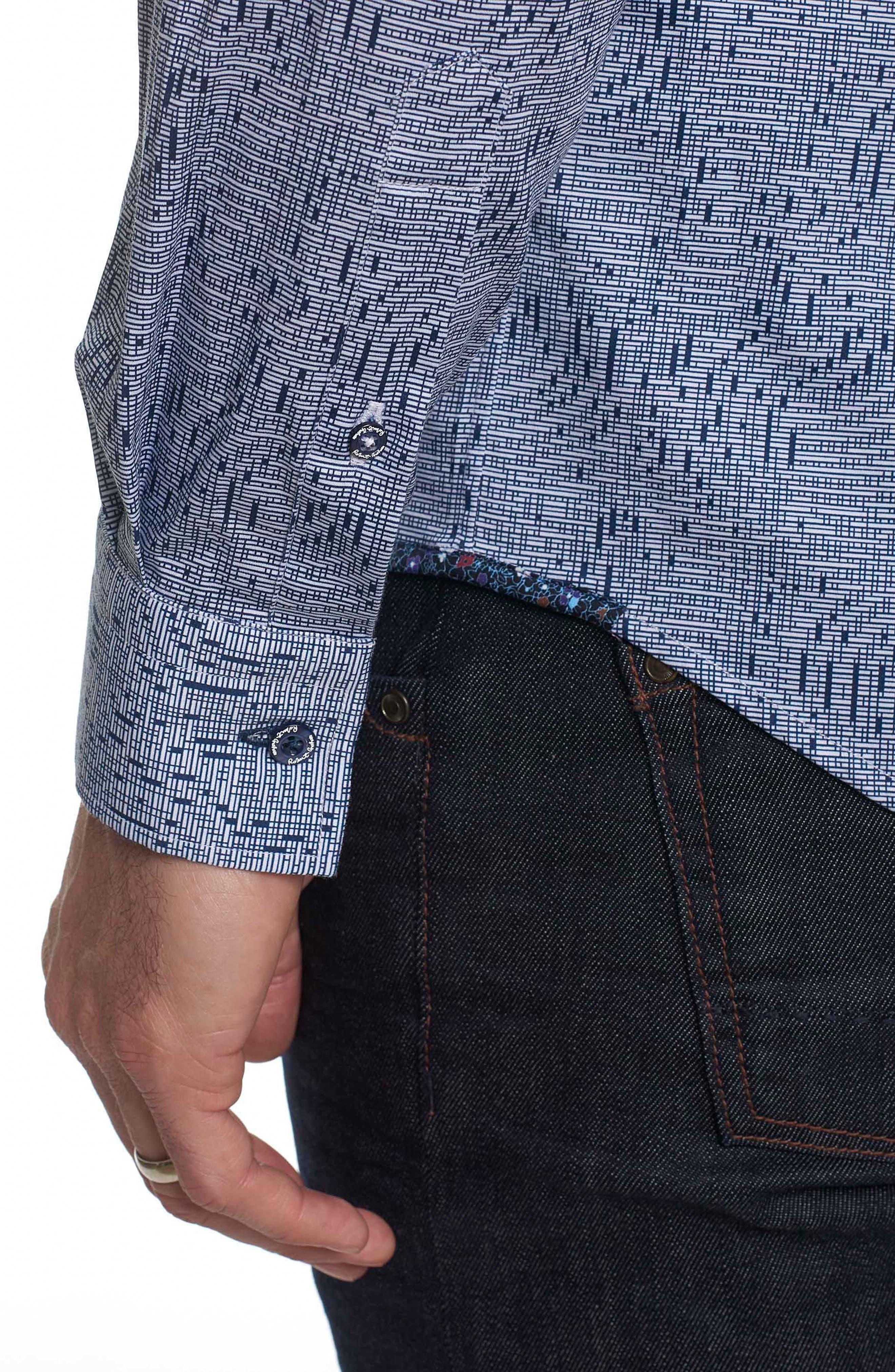 Alternate Image 6  - Robert Graham Donovan Tailored Fit Sport Shirt
