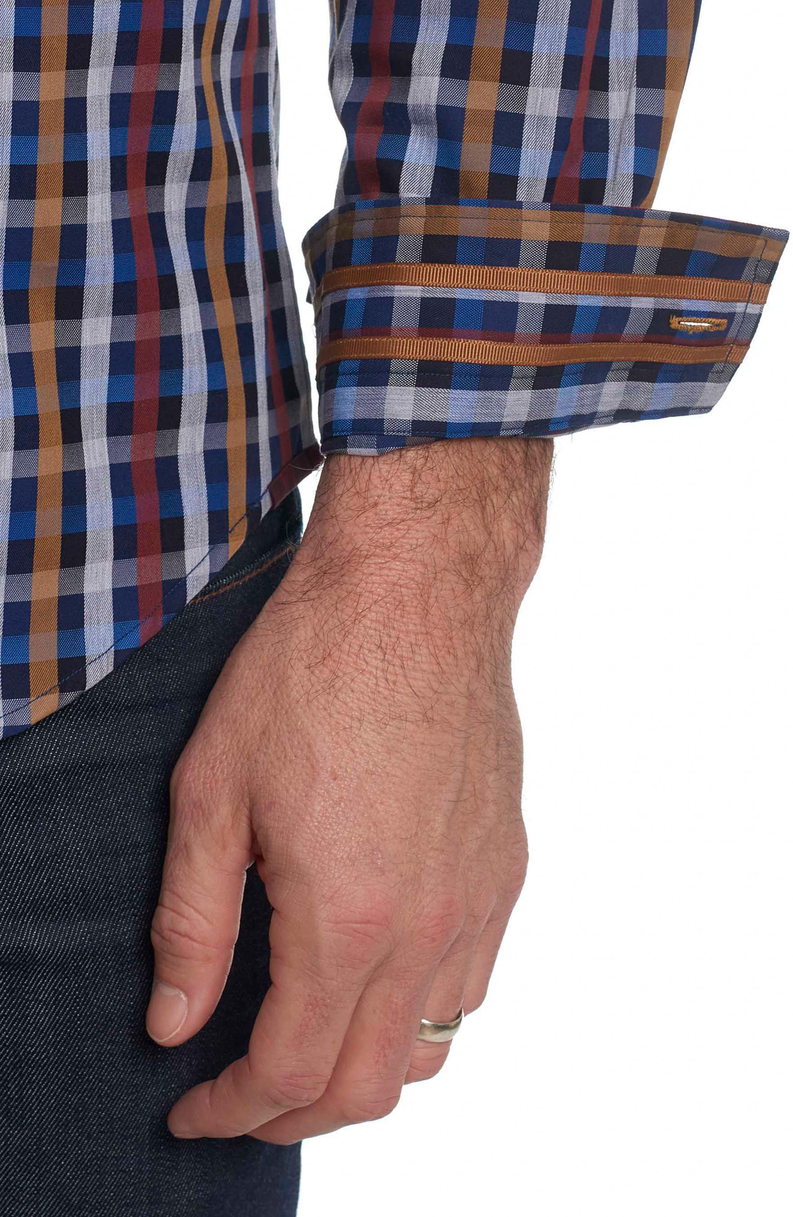 Alternate Image 4  - Robert Graham Carsons Tailored Fit Check Sport Shirt