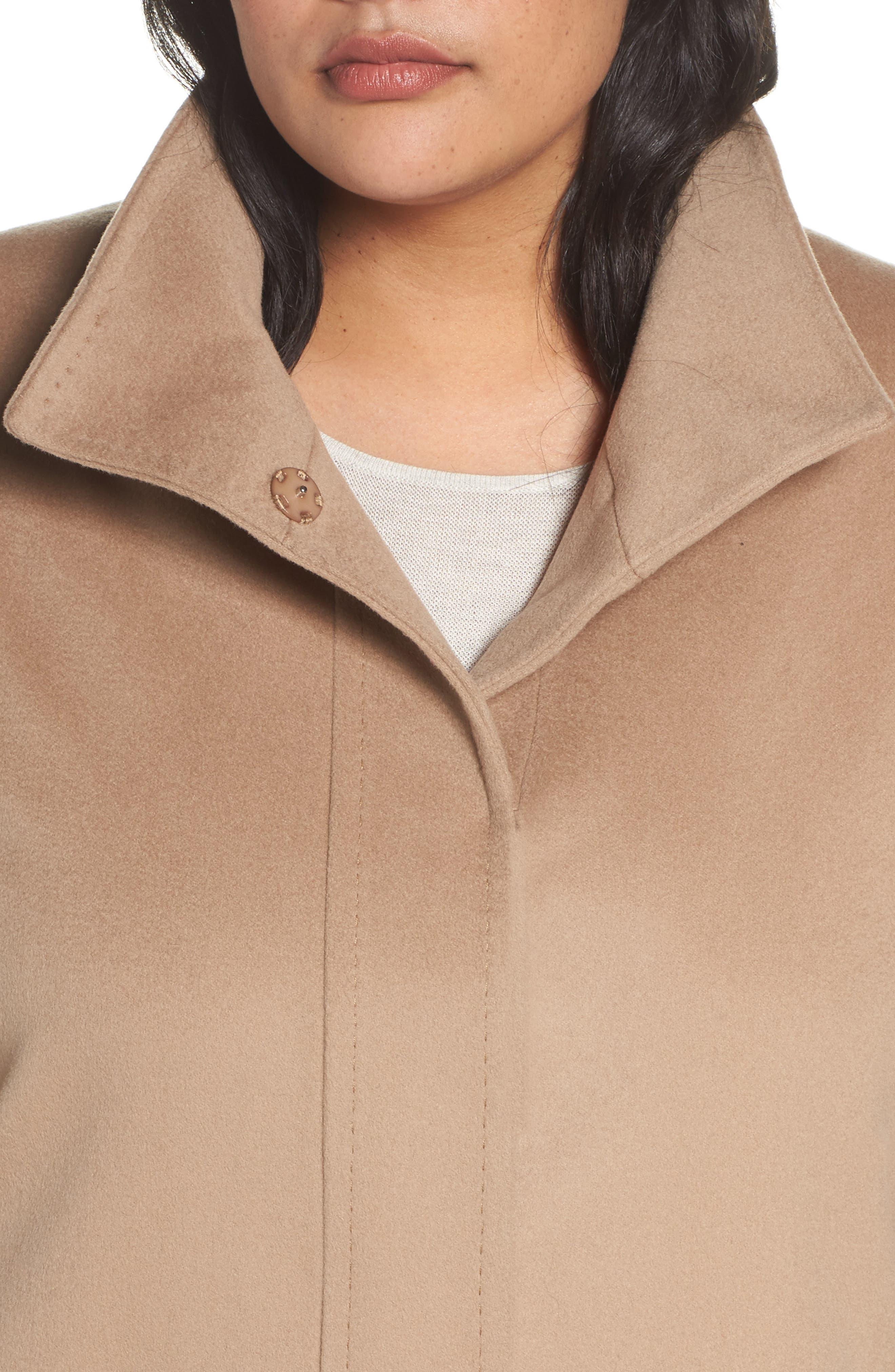 Alternate Image 4  - Fleurette Wool Car Coat (Plus Size) (Nordstrom Exclusive)