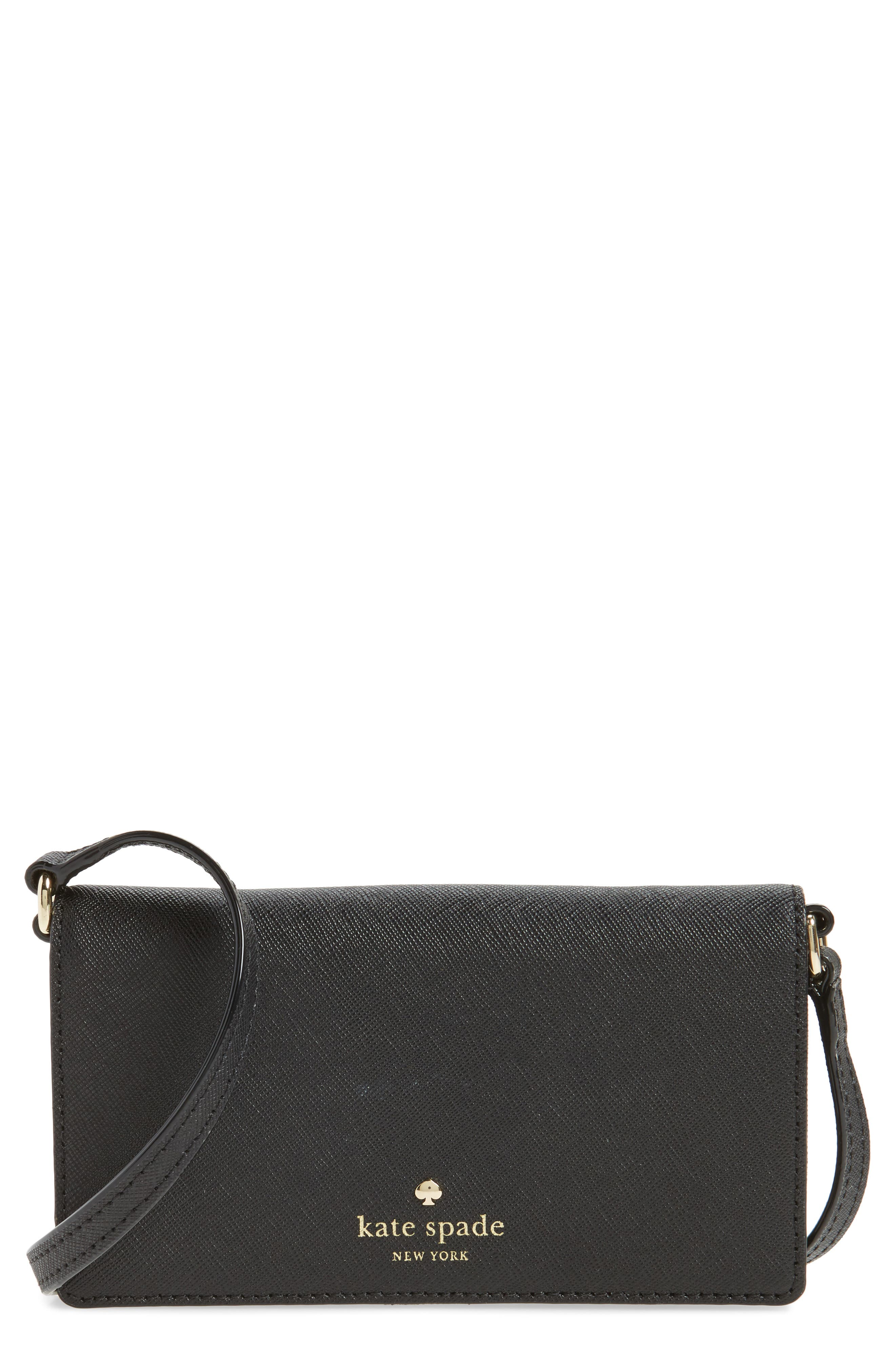 kate spade new york iPhone 7 leather crossbody wallet