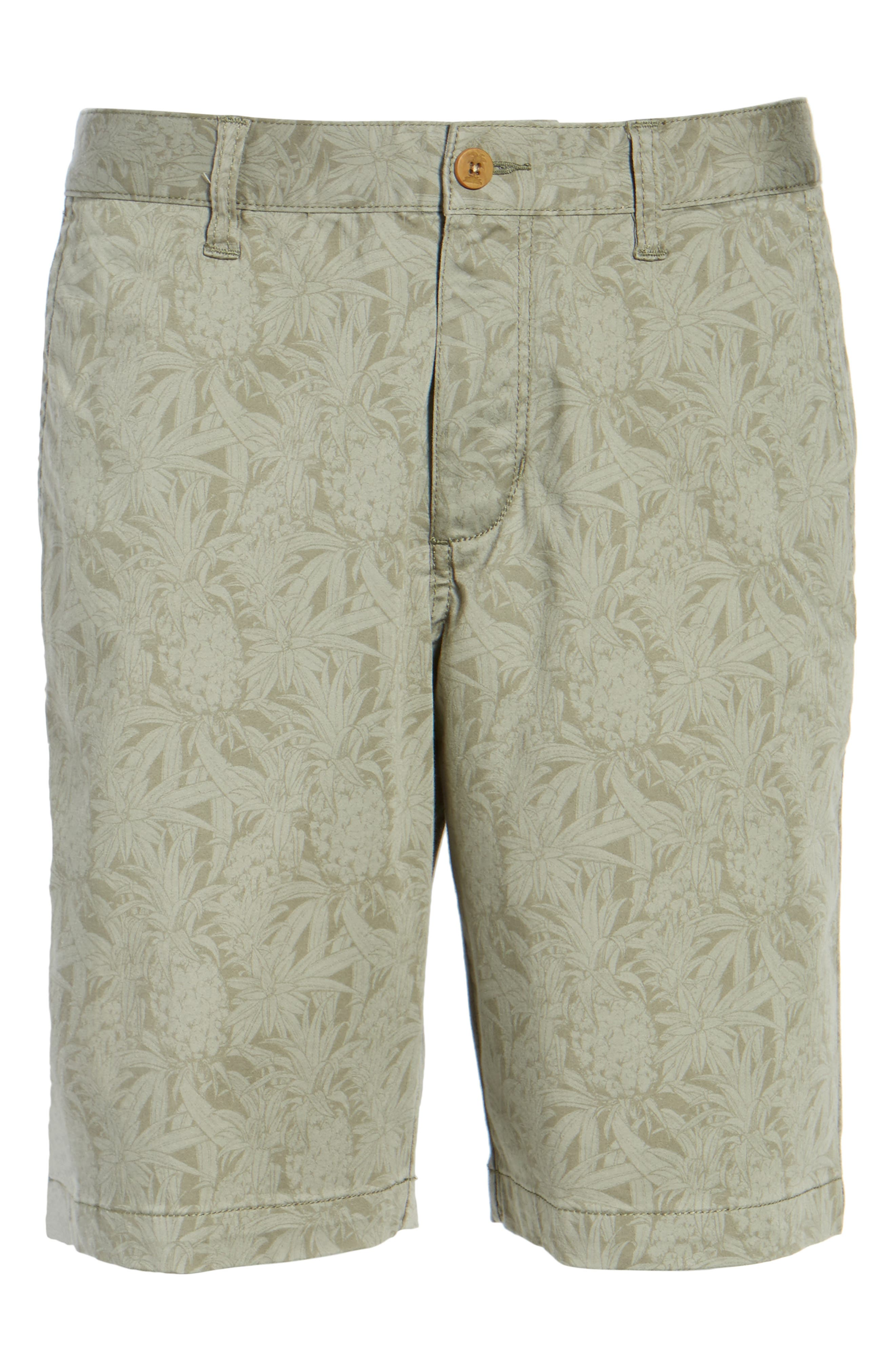 Camo Tropic Standard Fit Chino Shorts,                             Alternate thumbnail 6, color,                             Dusty Olive