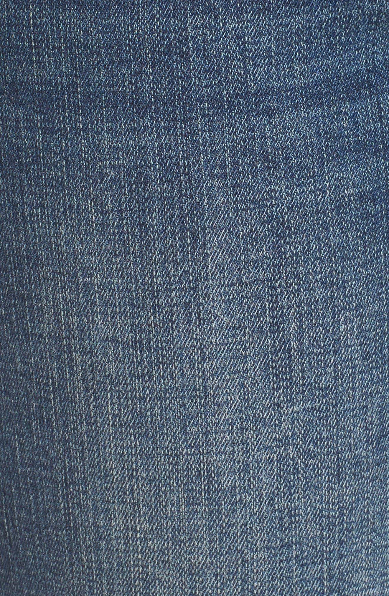 Flex-ellent Embroidered Boyfriend Jeans,                             Alternate thumbnail 5, color,                             Blue