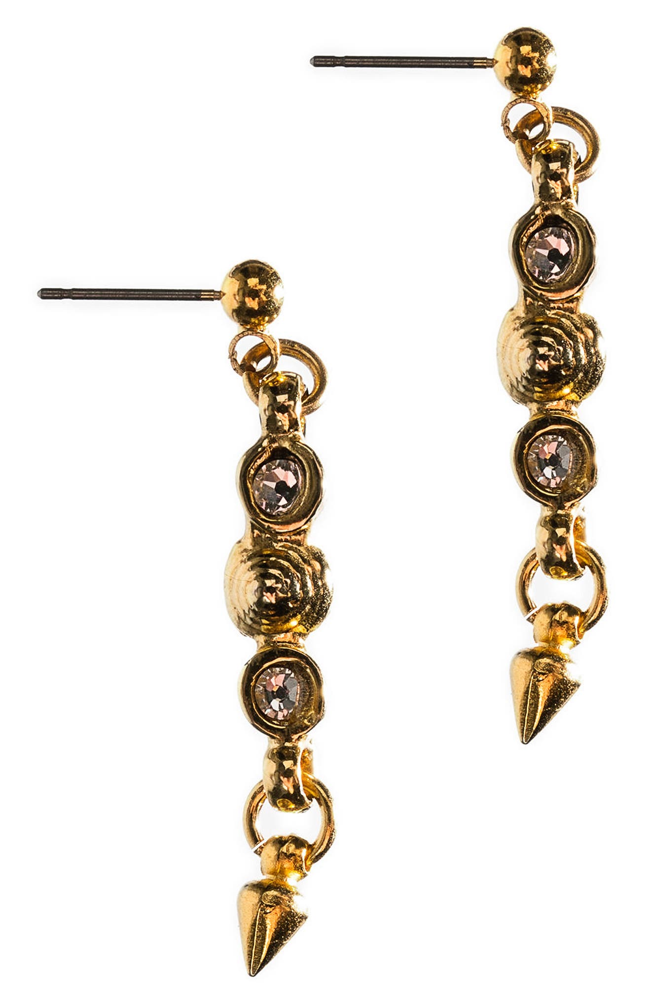 Swirl Spike Earrings,                         Main,                         color, Gold