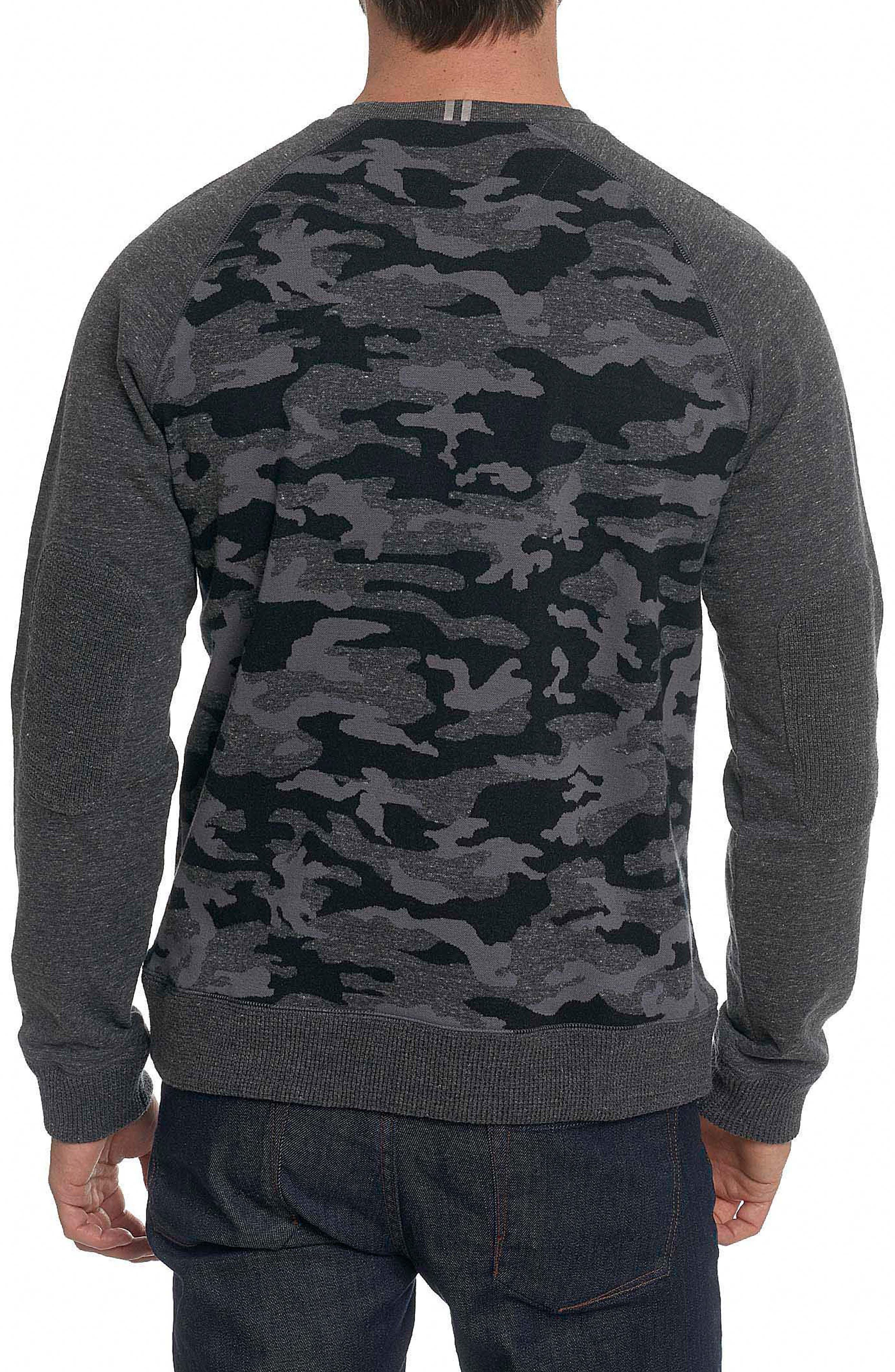 Mooers Camo Raglan Sleeve Shirt,                             Alternate thumbnail 2, color,                             Charcoal