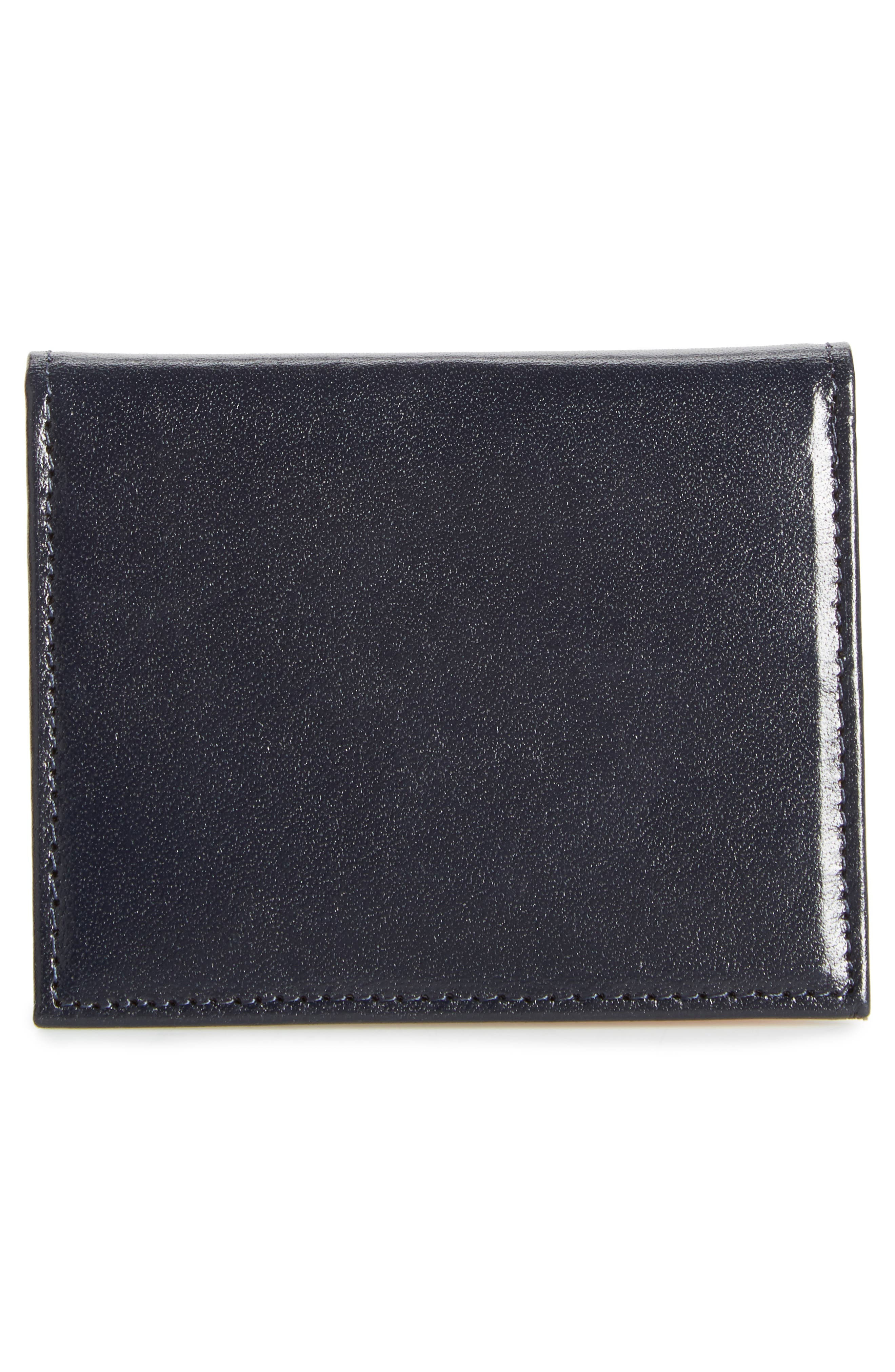 Brights Leather Card Case,                             Alternate thumbnail 3, color,                             Blue