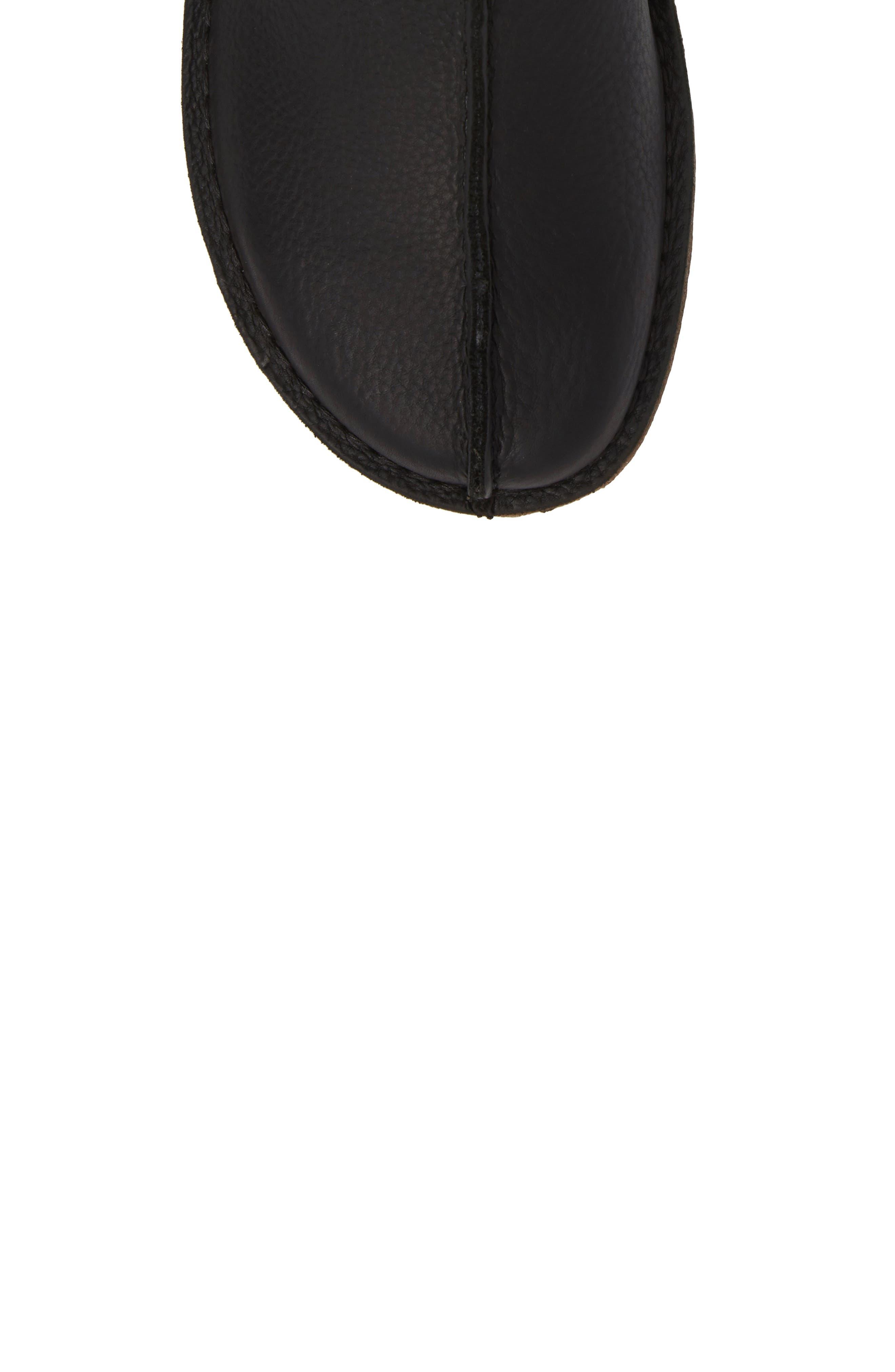 Clarks Desert Trek Leather Boot,                             Alternate thumbnail 5, color,                             Black Leather
