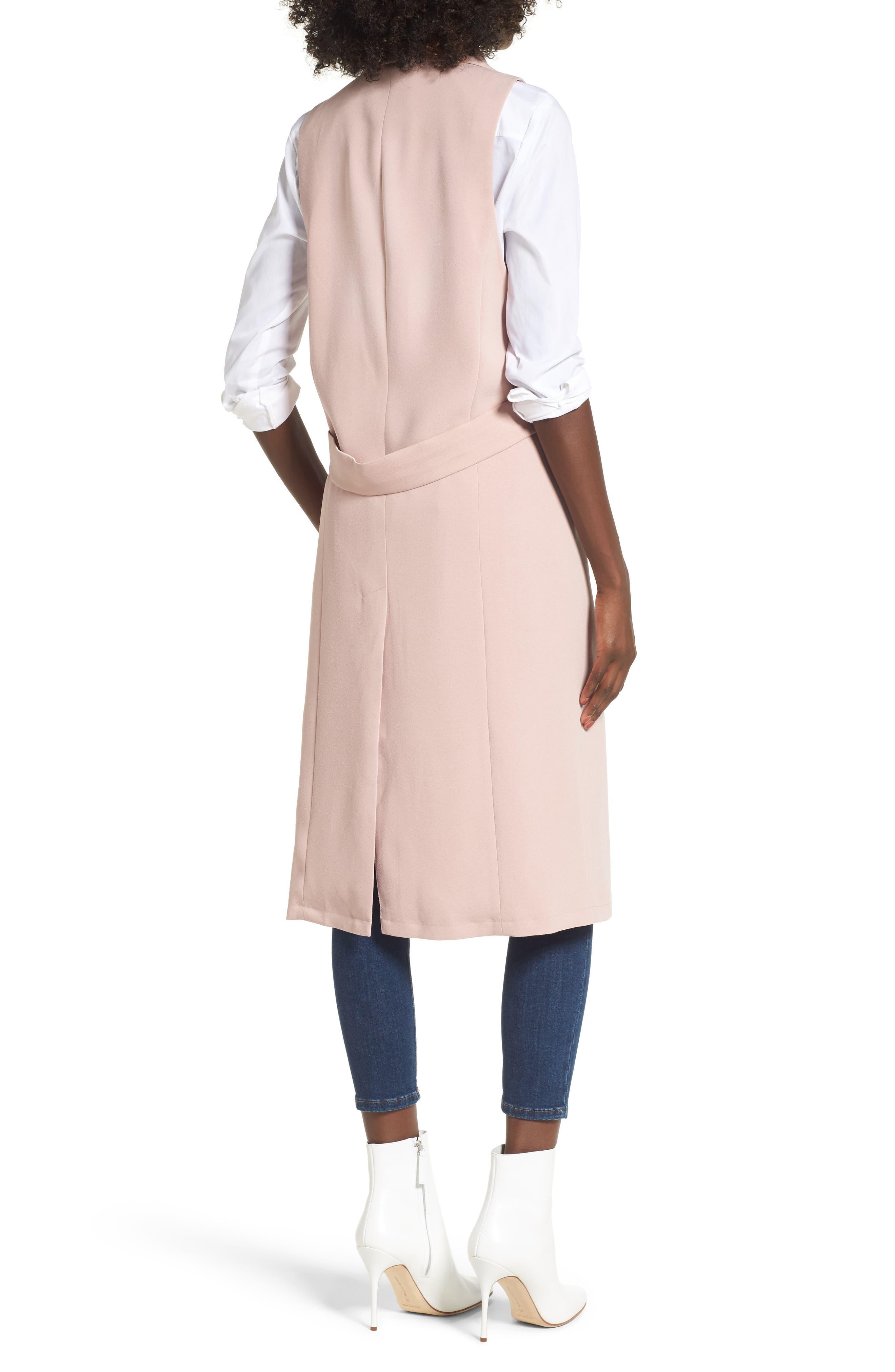 Tuxedo Vest,                             Alternate thumbnail 2, color,                             Pink Adobe