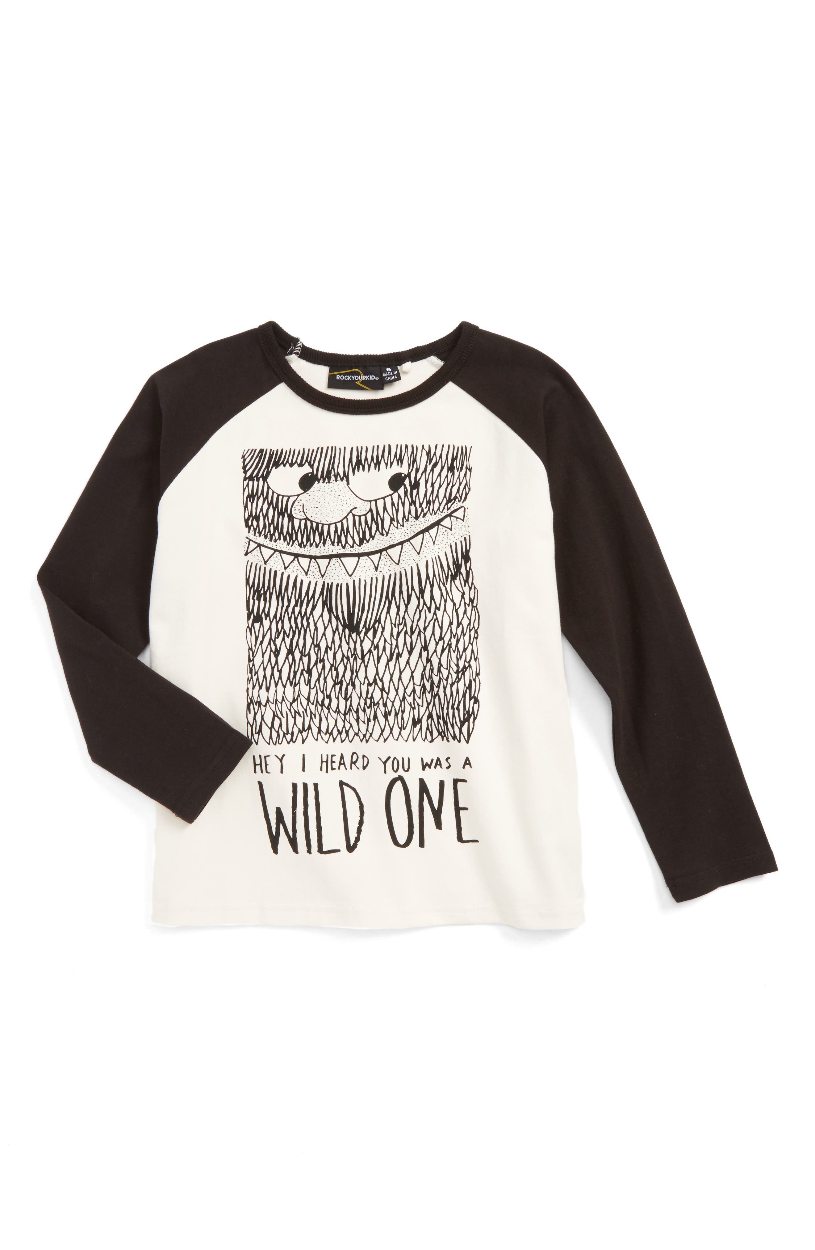 ROCK YOUR BABY Wild One Graphic Baseball T-Shirt