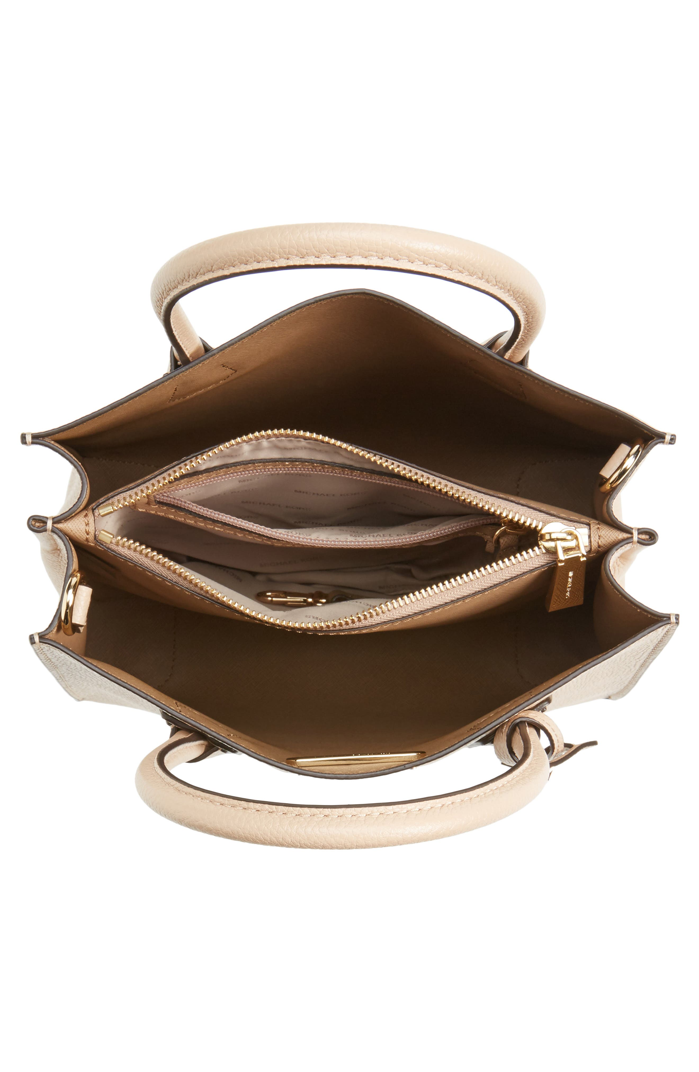 'Medium Mercer' Leather Tote,                             Alternate thumbnail 6, color,                             Oyster