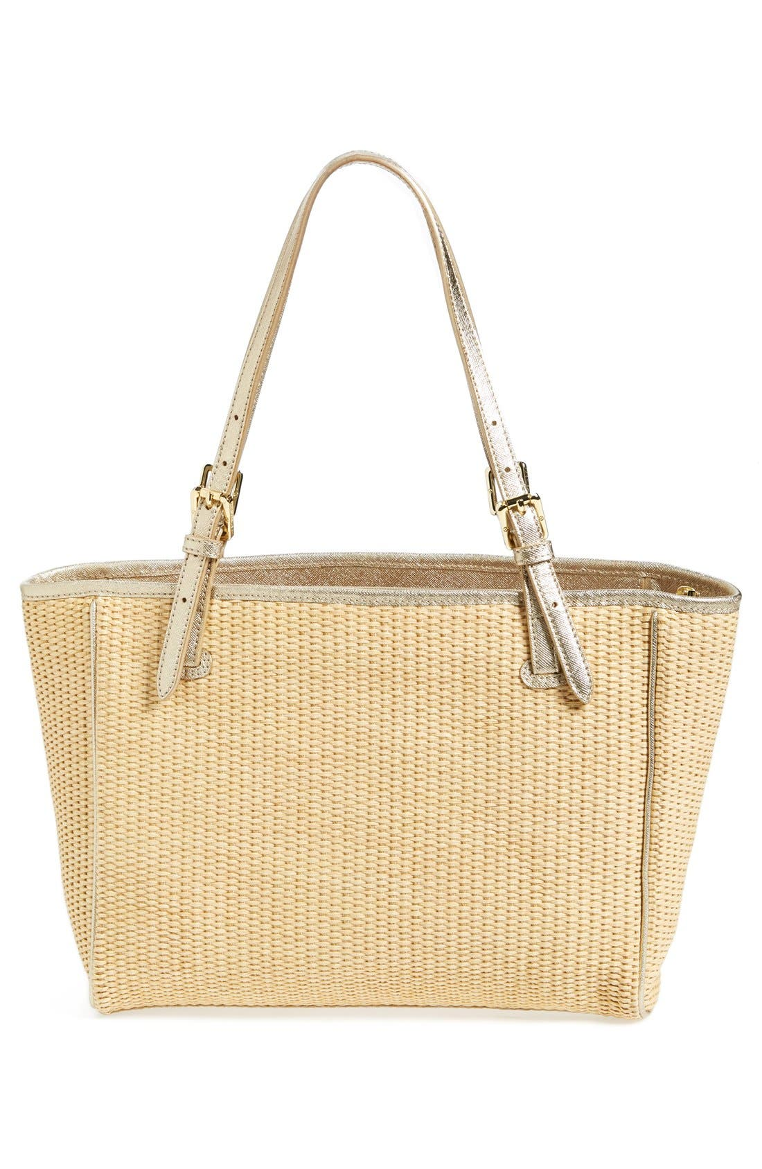 Alternate Image 3  - Tory Burch 'Small York' Straw Buckle Tote
