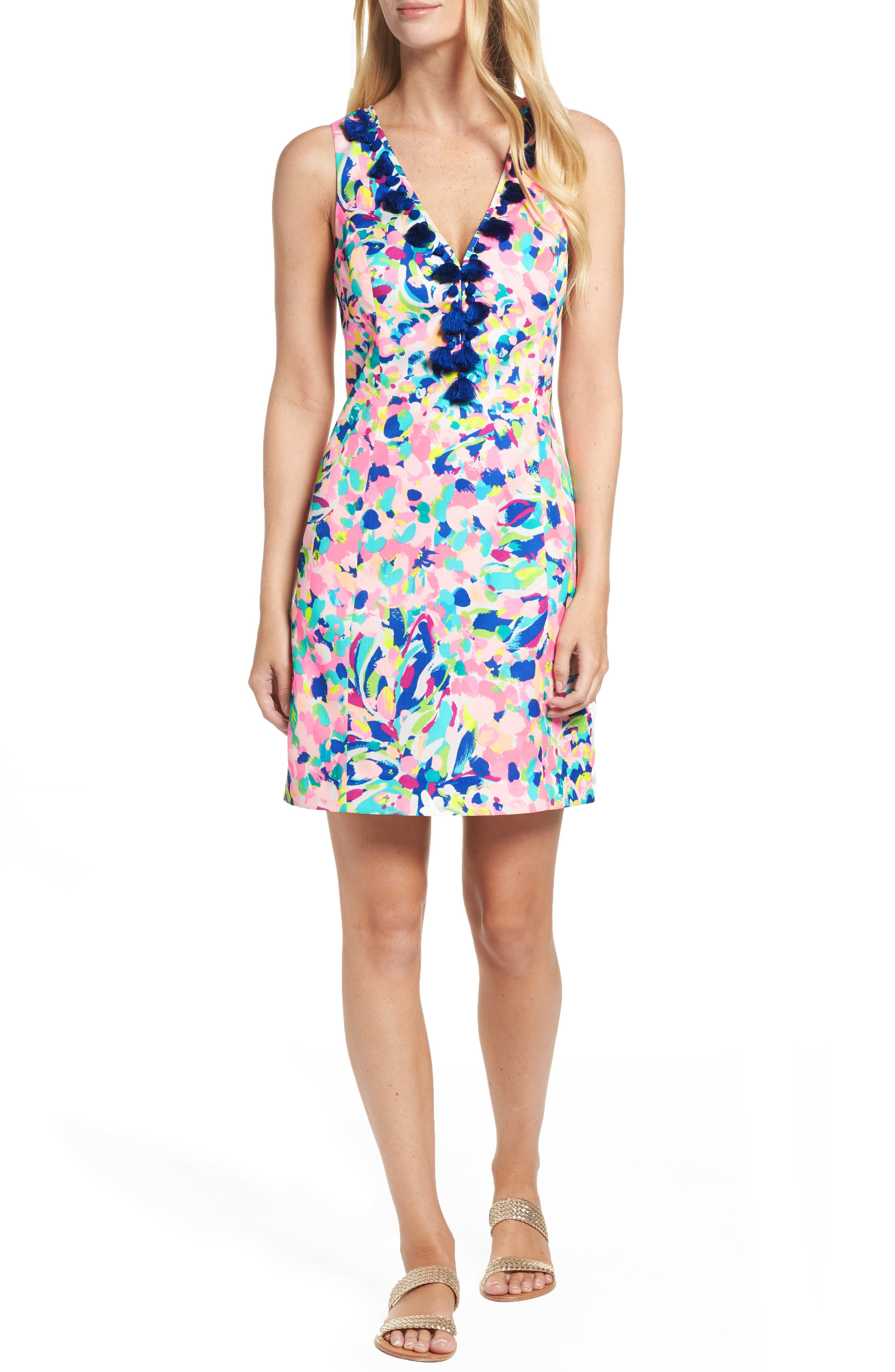 Cabrey Sheath Dress,                         Main,                         color, Multi Pina Colada Club