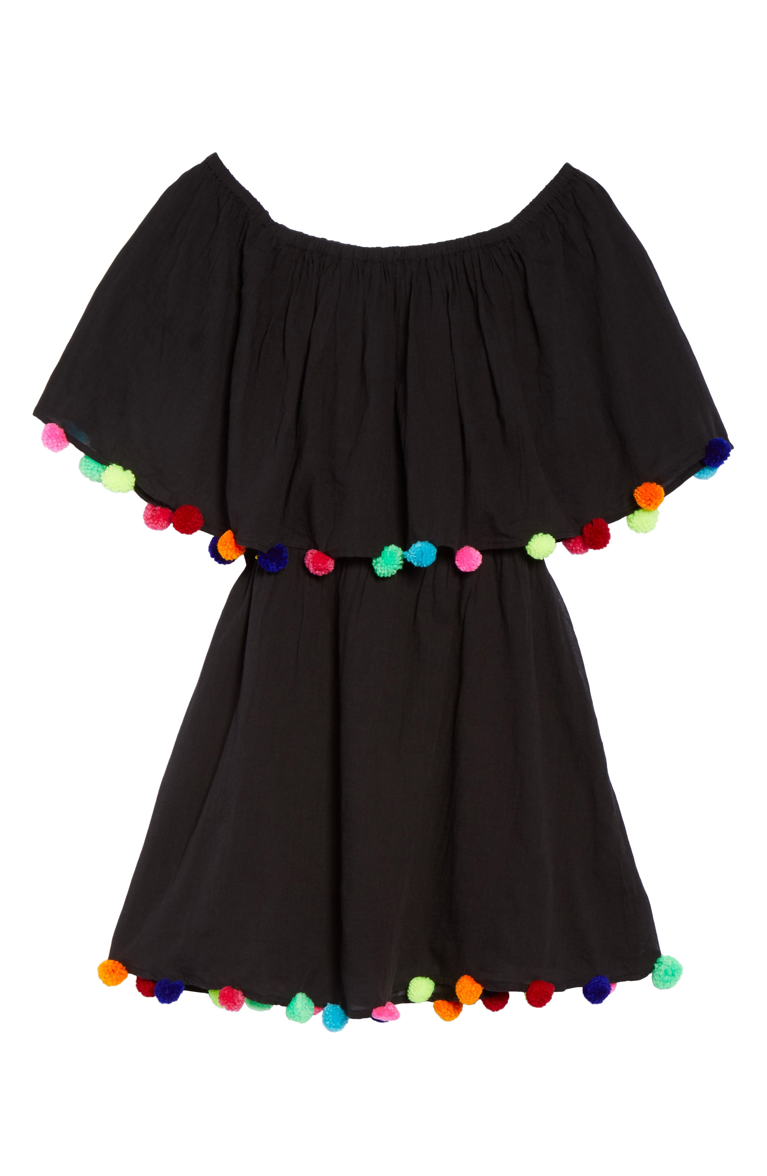 Cover-Up Dress,                             Alternate thumbnail 6, color,                             Black