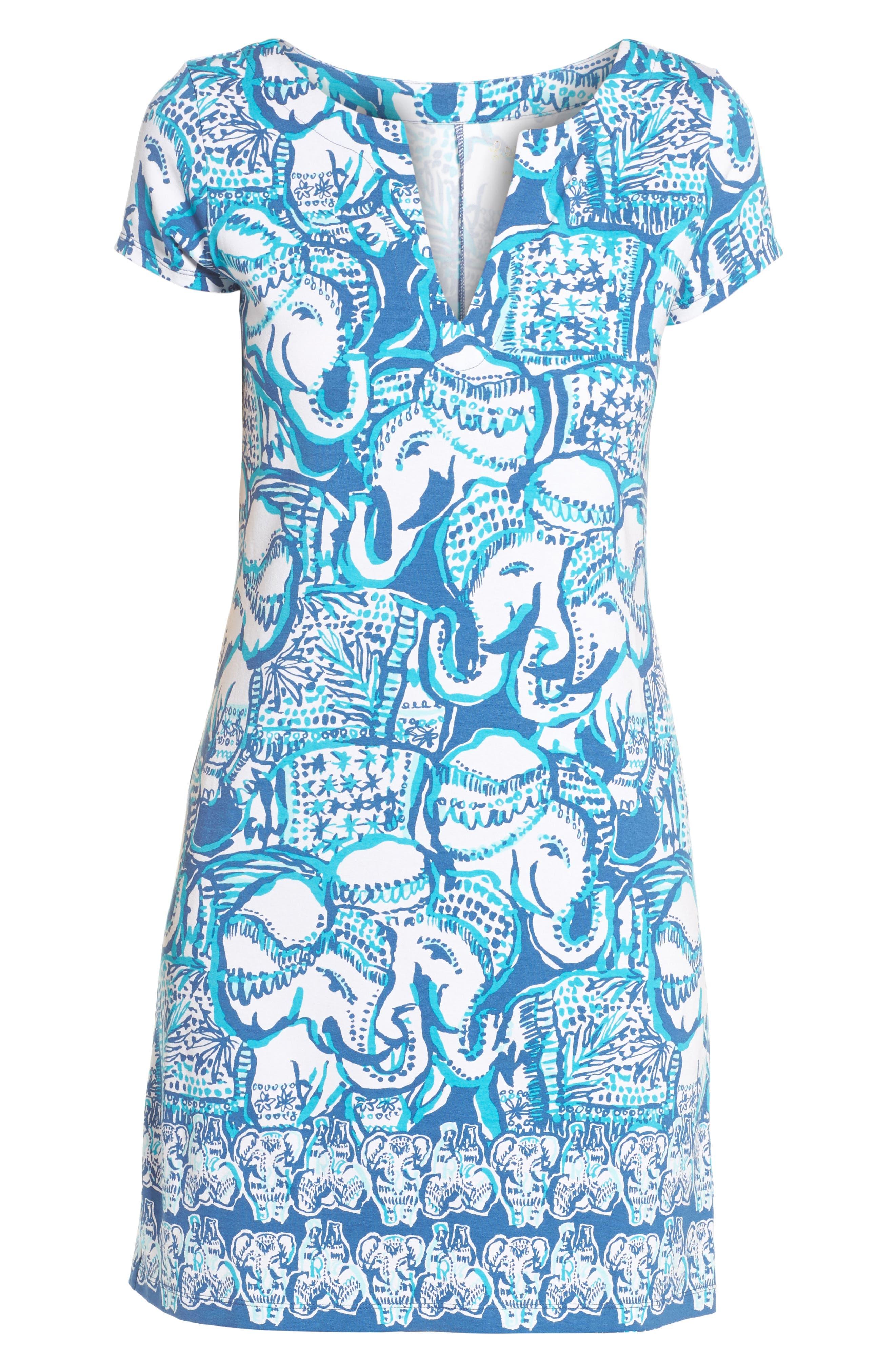 Sophiletta UPF 50+ Dress,                             Alternate thumbnail 6, color,                             Indigo