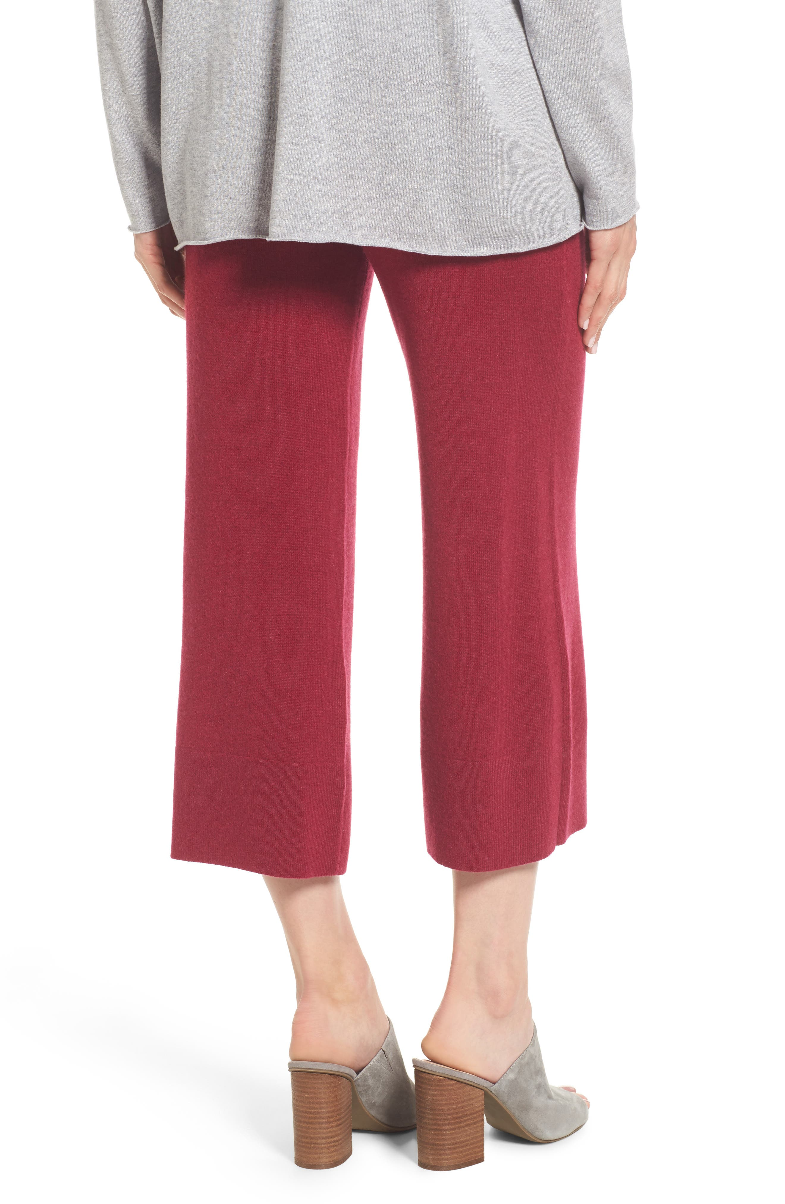 Alternate Image 2  - Eileen Fisher Knit Cashmere Ankle Pants
