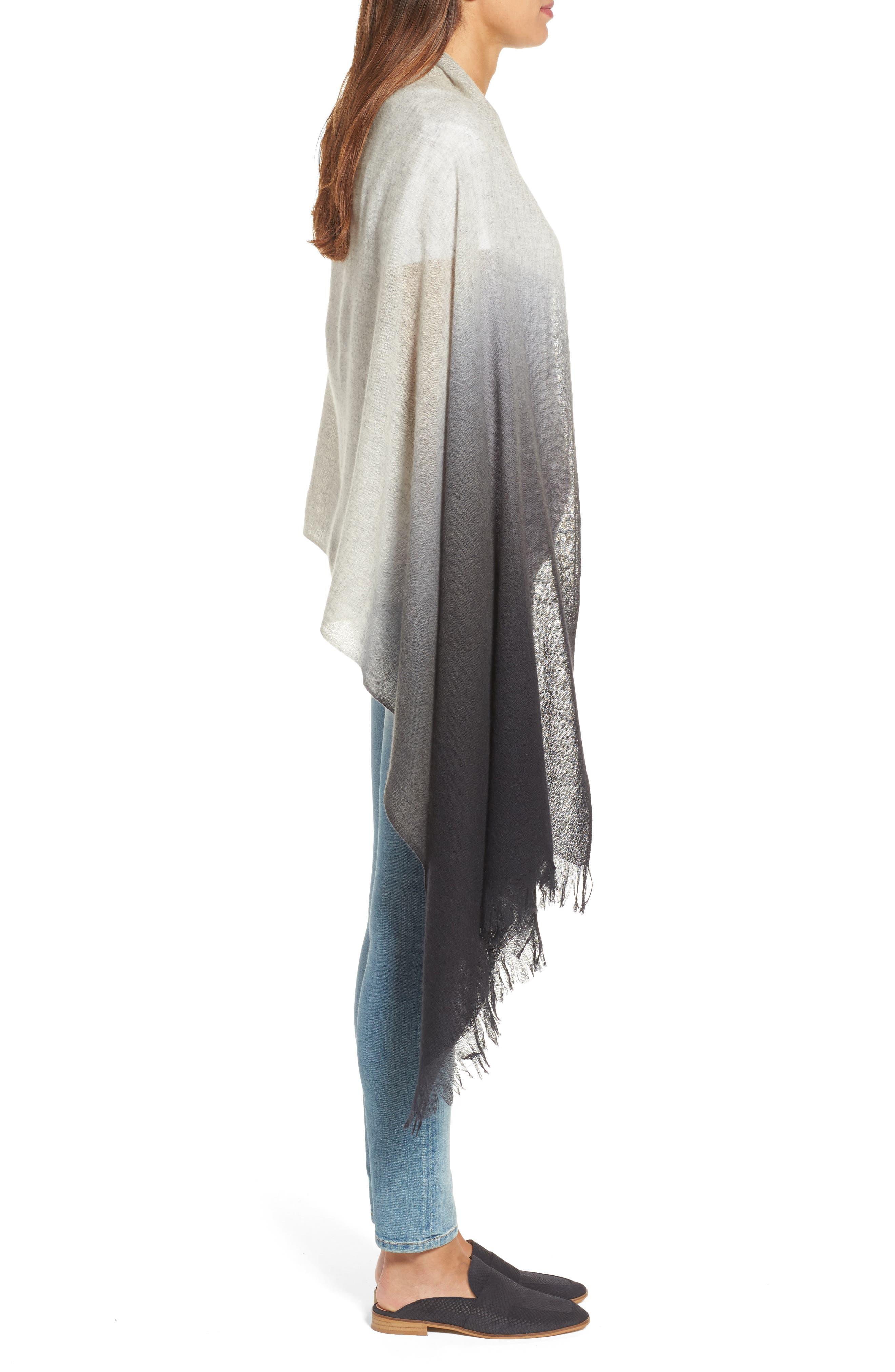 Alternate Image 3  - Caslon Dip Dye Cashmere Wrap