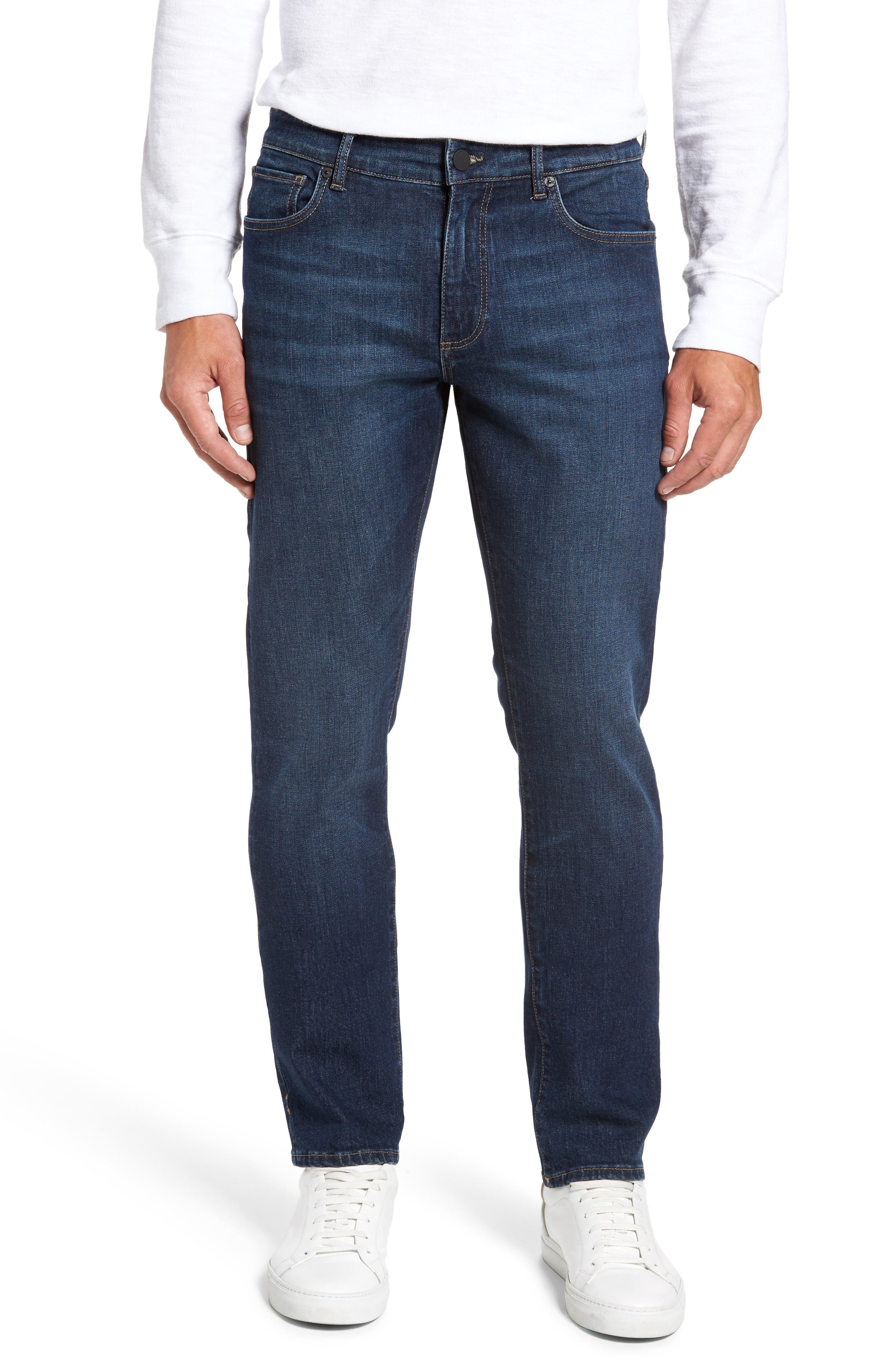 Russell Slim Straight Leg Jeans,                             Main thumbnail 1, color,                             Marine