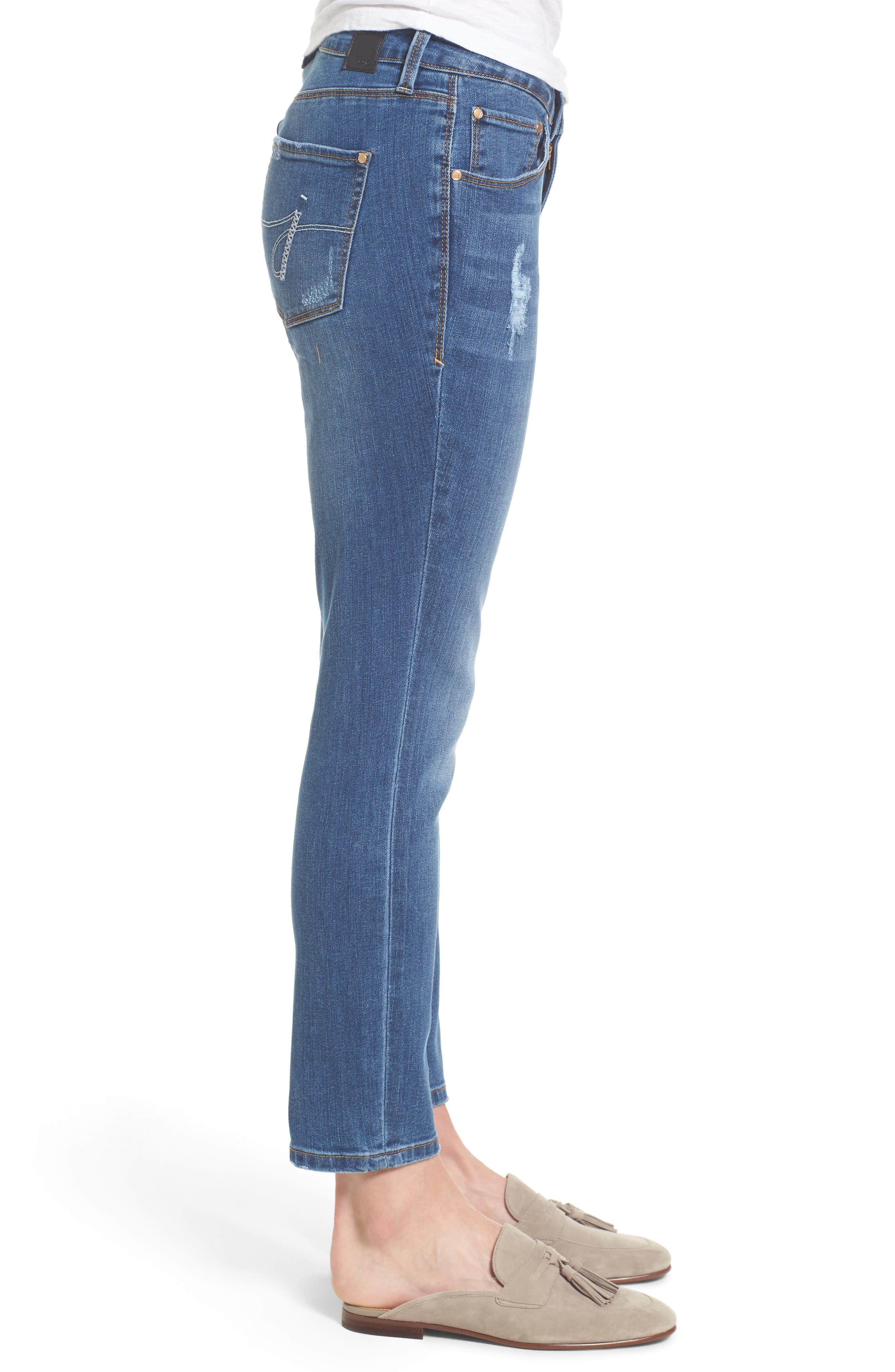 Mera Skinny Ankle Jeans,                             Alternate thumbnail 3, color,                             Mineral Wash