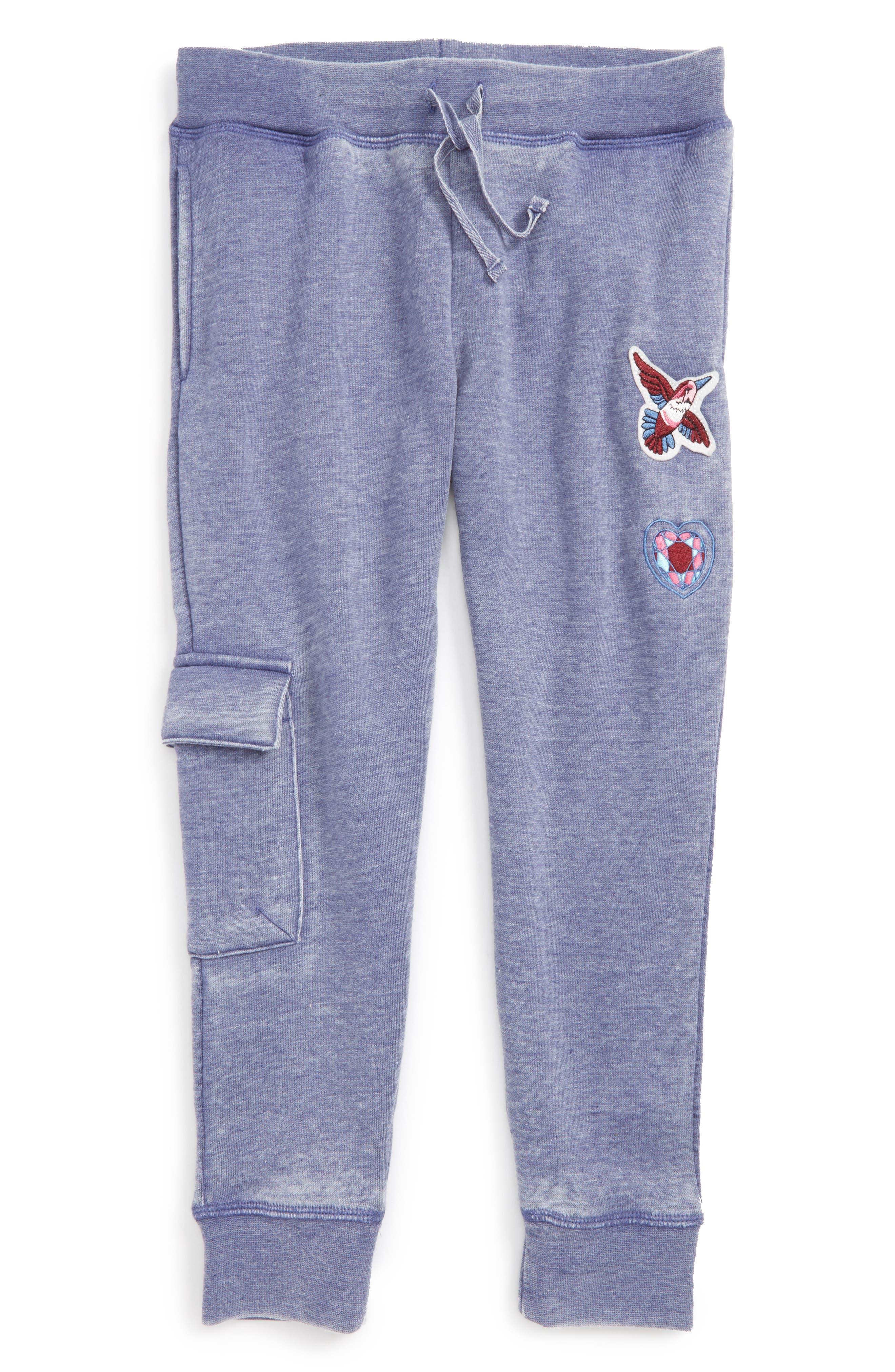 Alternate Image 1 Selected - C & C California Appliqué Jogger Pants (Big Girls)