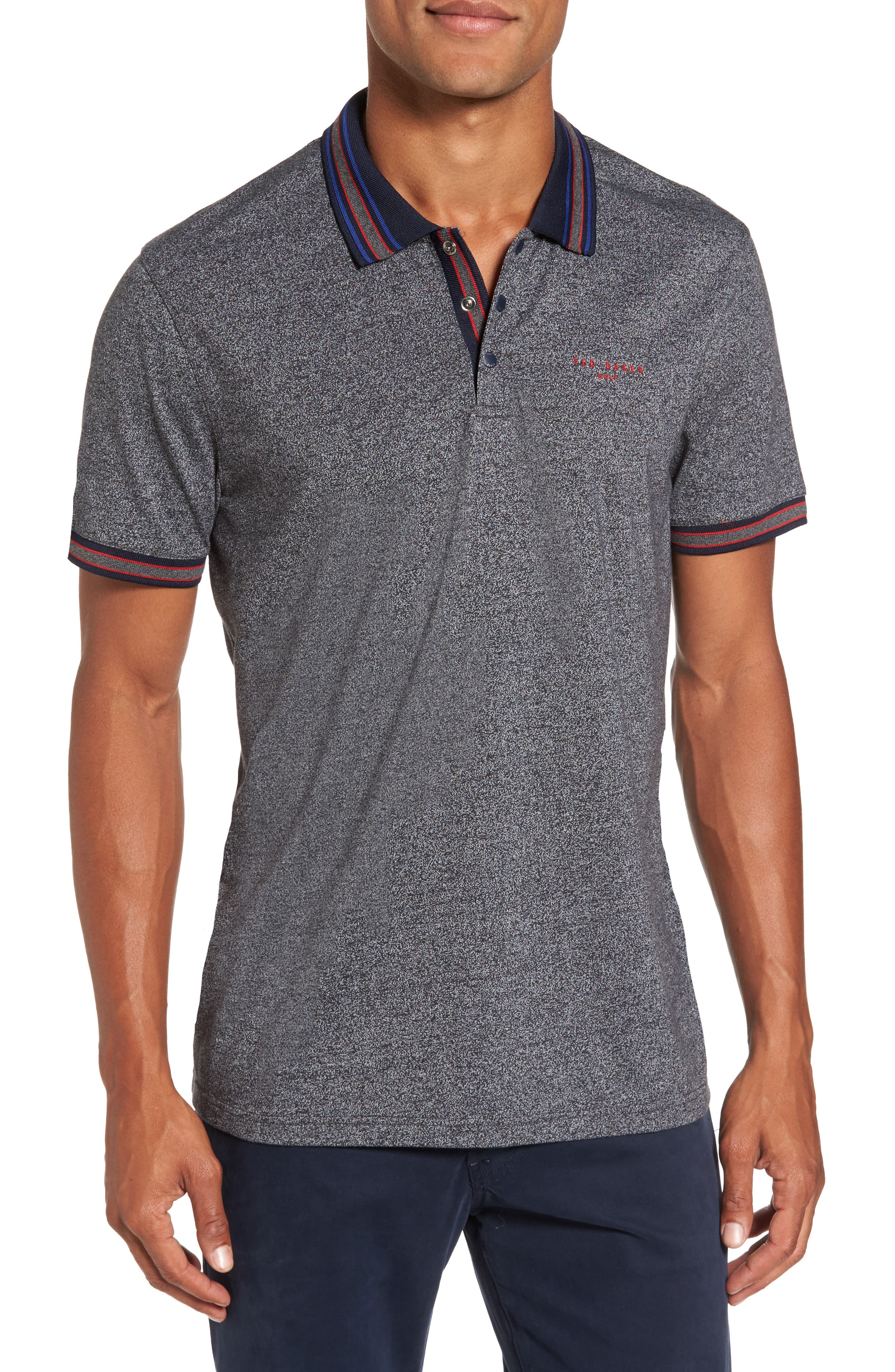 Fore Mouline Golf Polo,                         Main,                         color, Charcoal