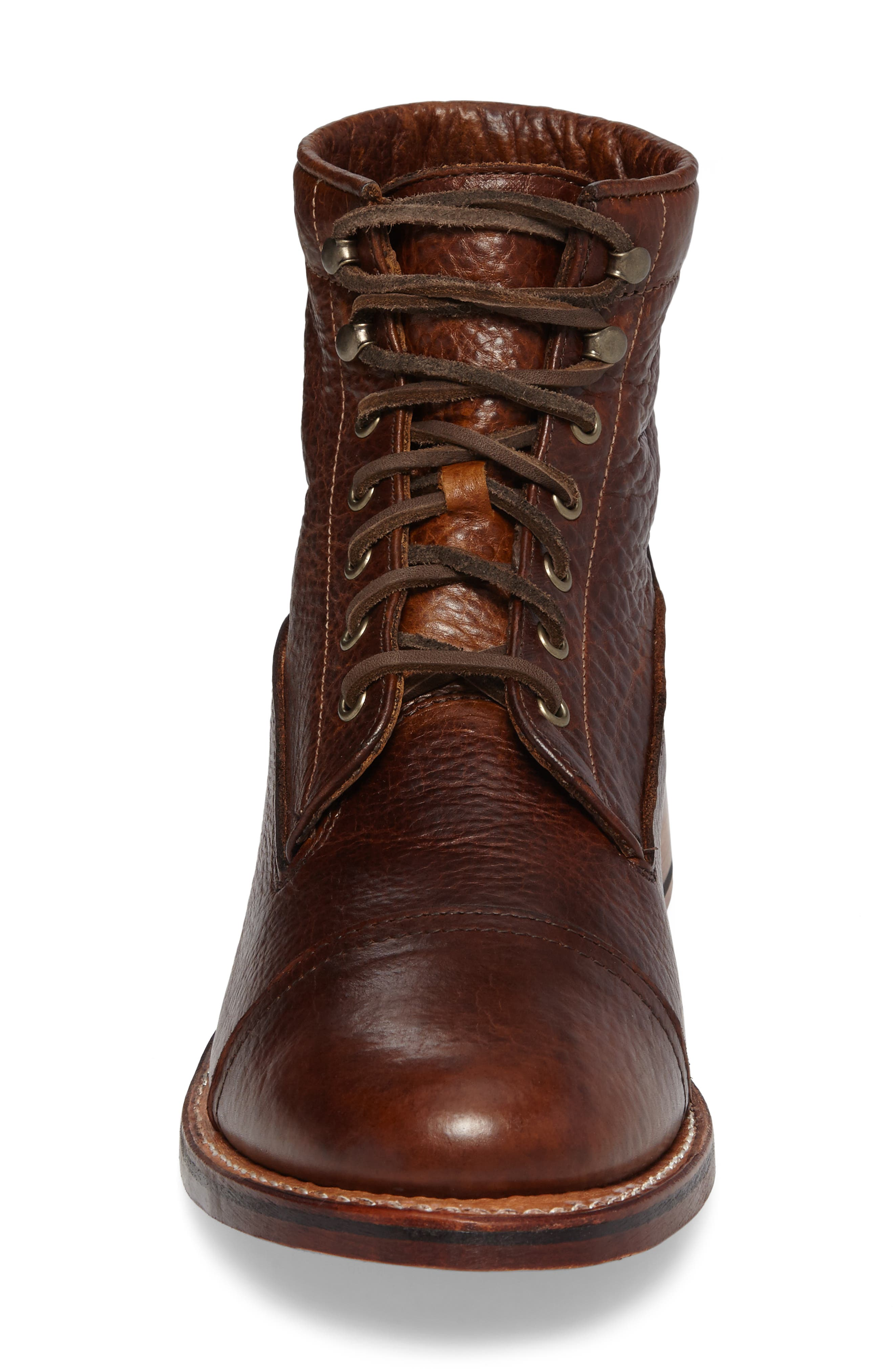 Ariat Highlands Cap Toe Boot,                             Alternate thumbnail 4, color,                             Whiskey Bourbon Leather