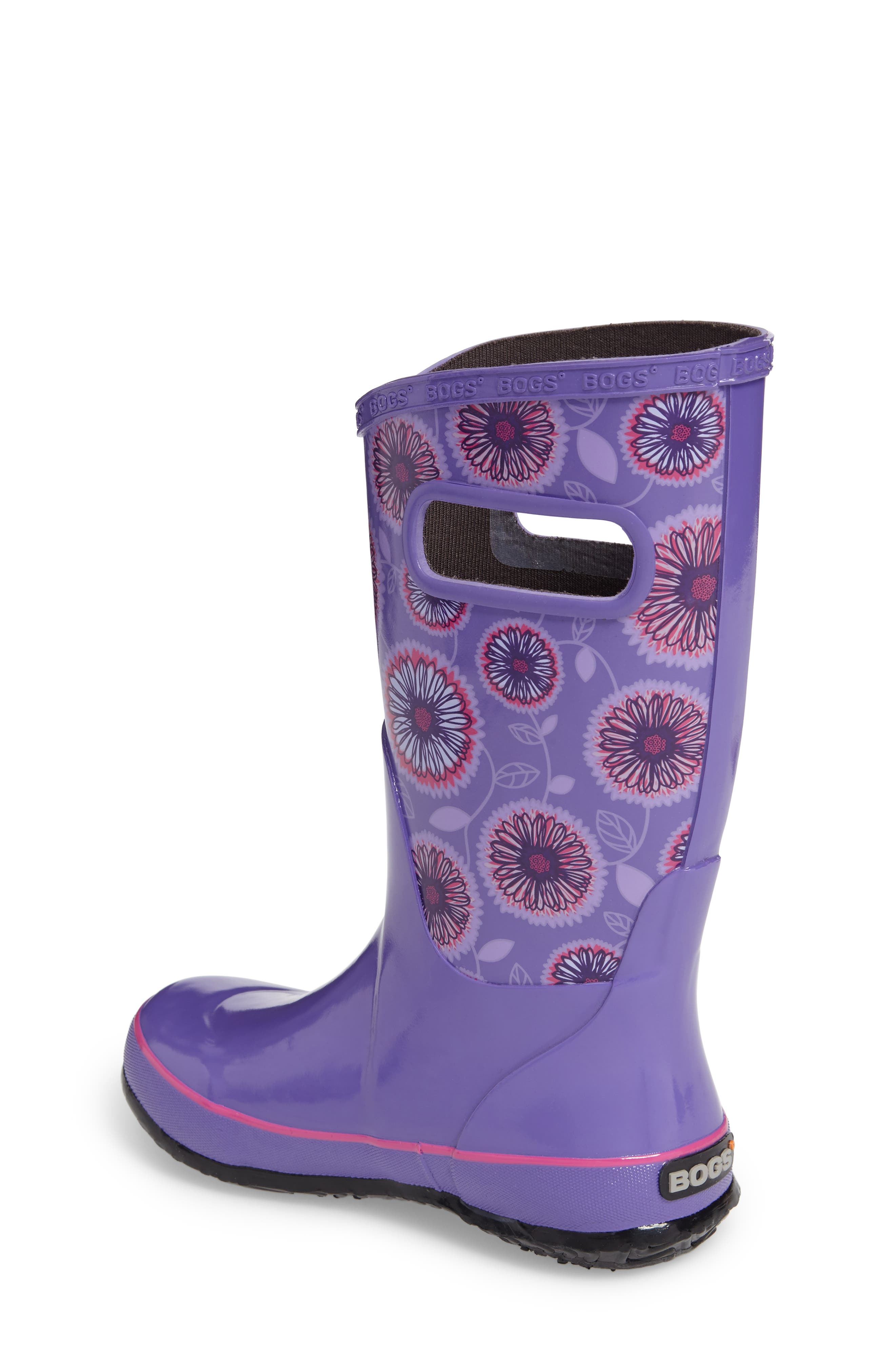 Wildflowers Rubber Rain Boot,                             Alternate thumbnail 2, color,                             Violet Multi