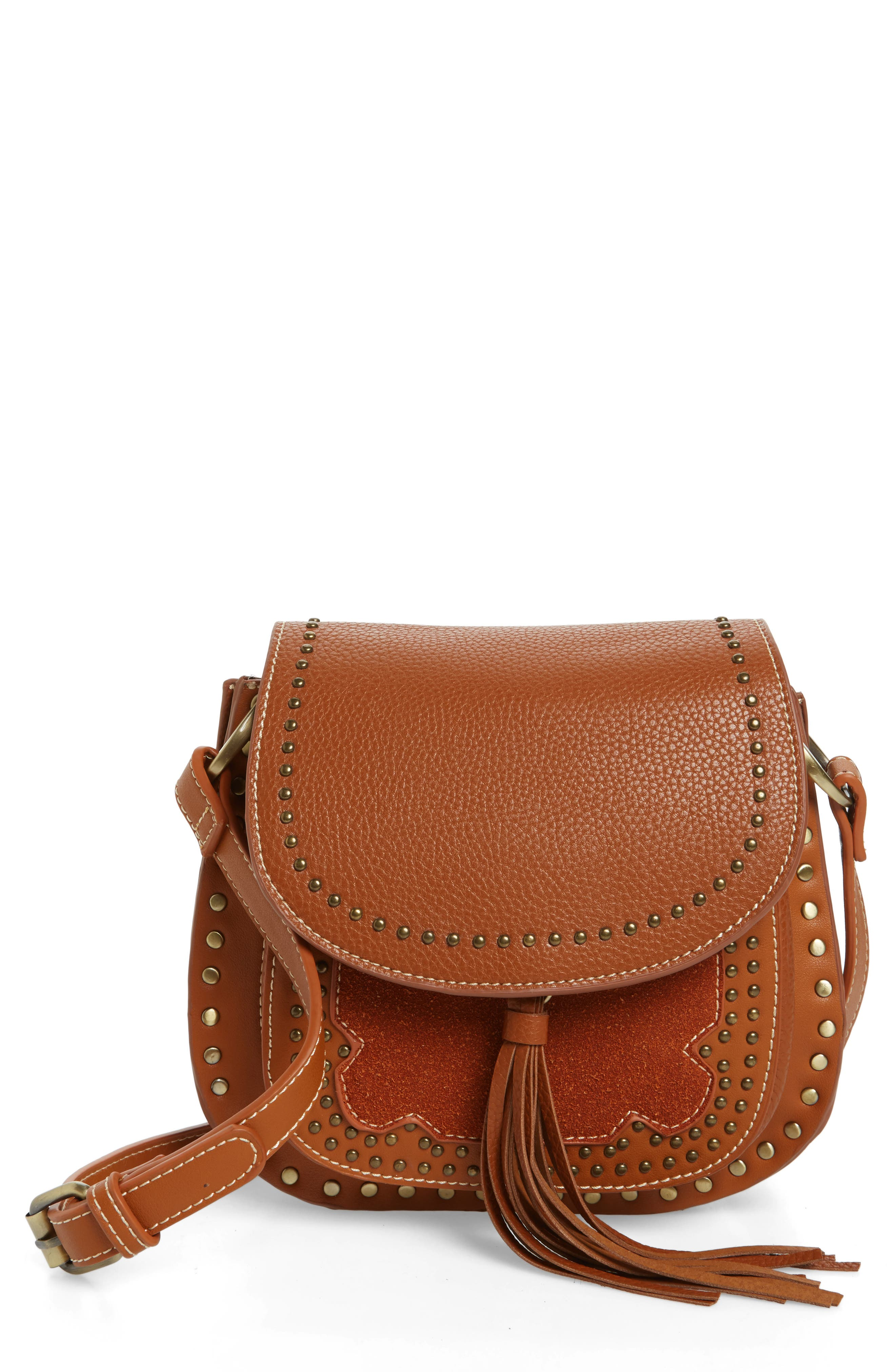 SHIRALEAH Skylar Faux Leather Saddle Bag