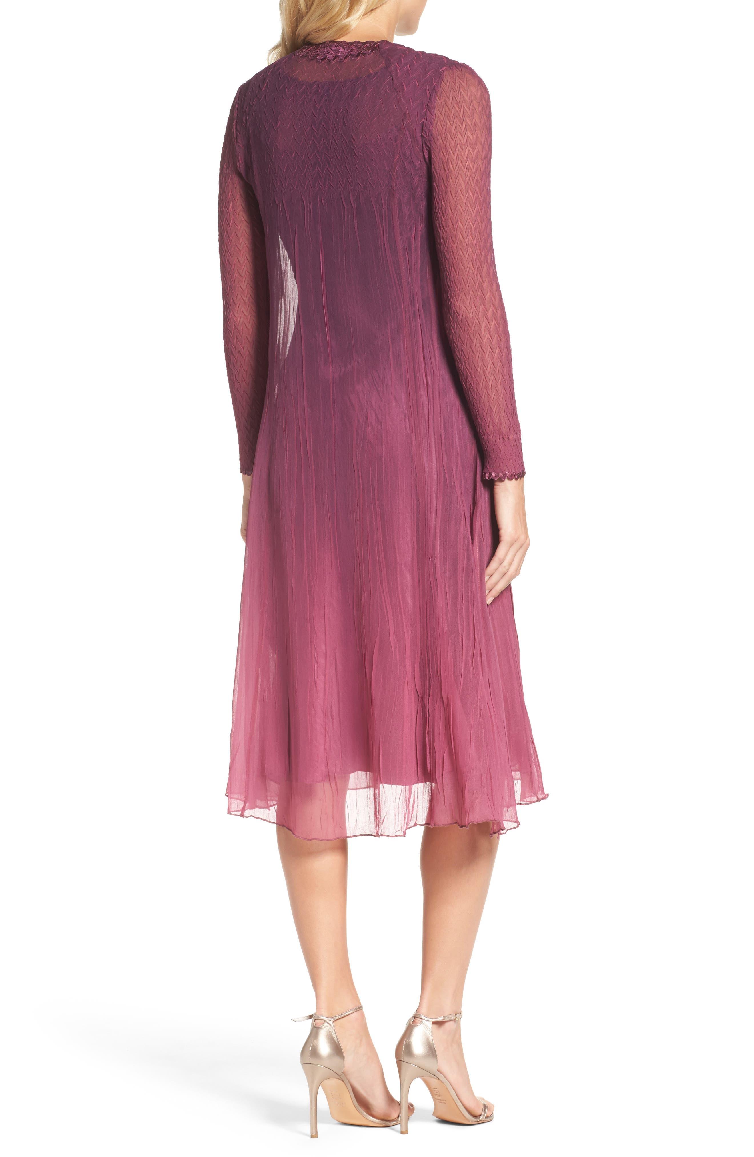 Alternate Image 3  - Komarov Charmeuse & Chiffon A-Line Dress with Jacket (Regular & Petite)
