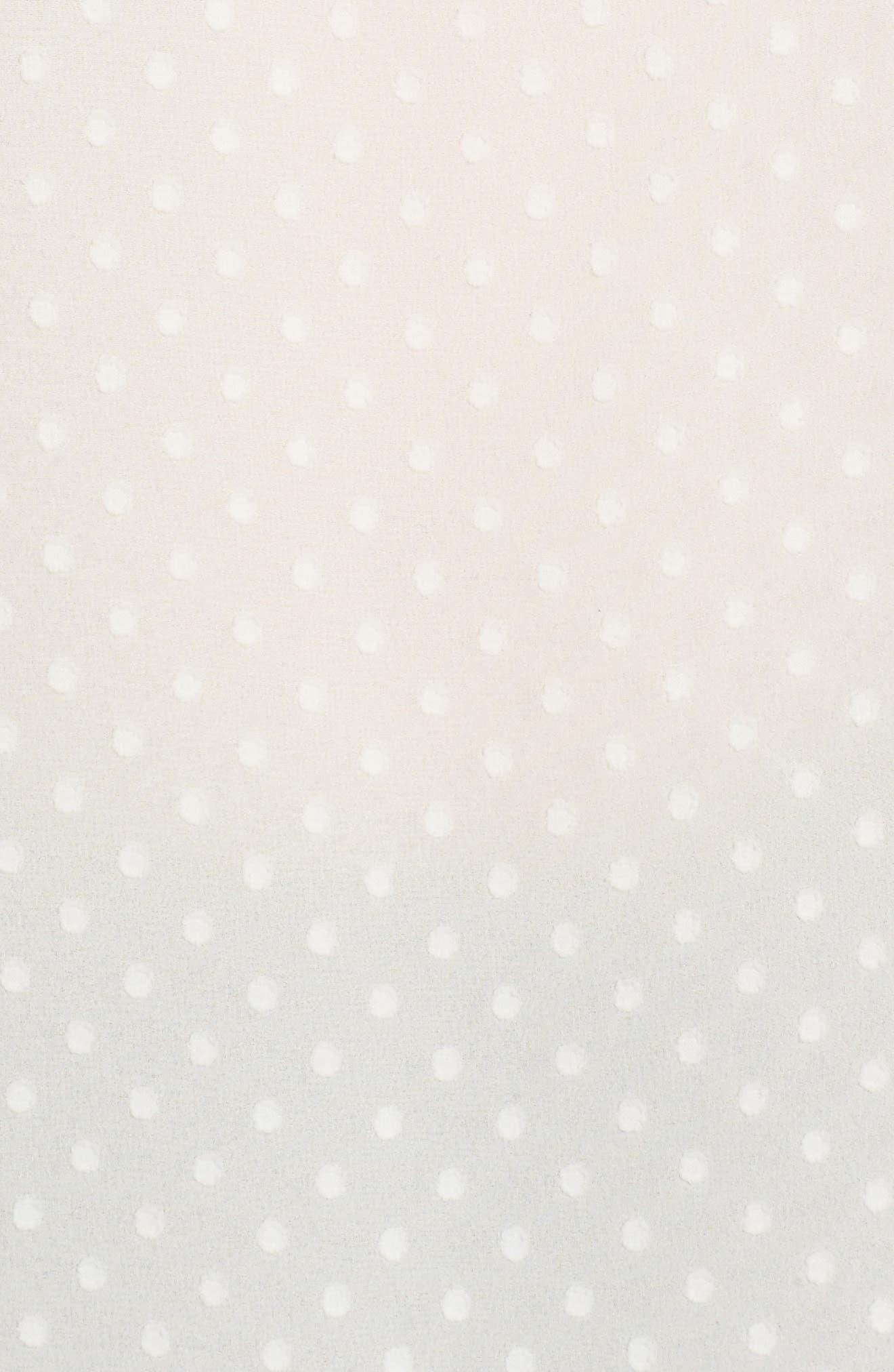Double Ruffle Blouse,                             Alternate thumbnail 5, color,                             Ivory Pristine