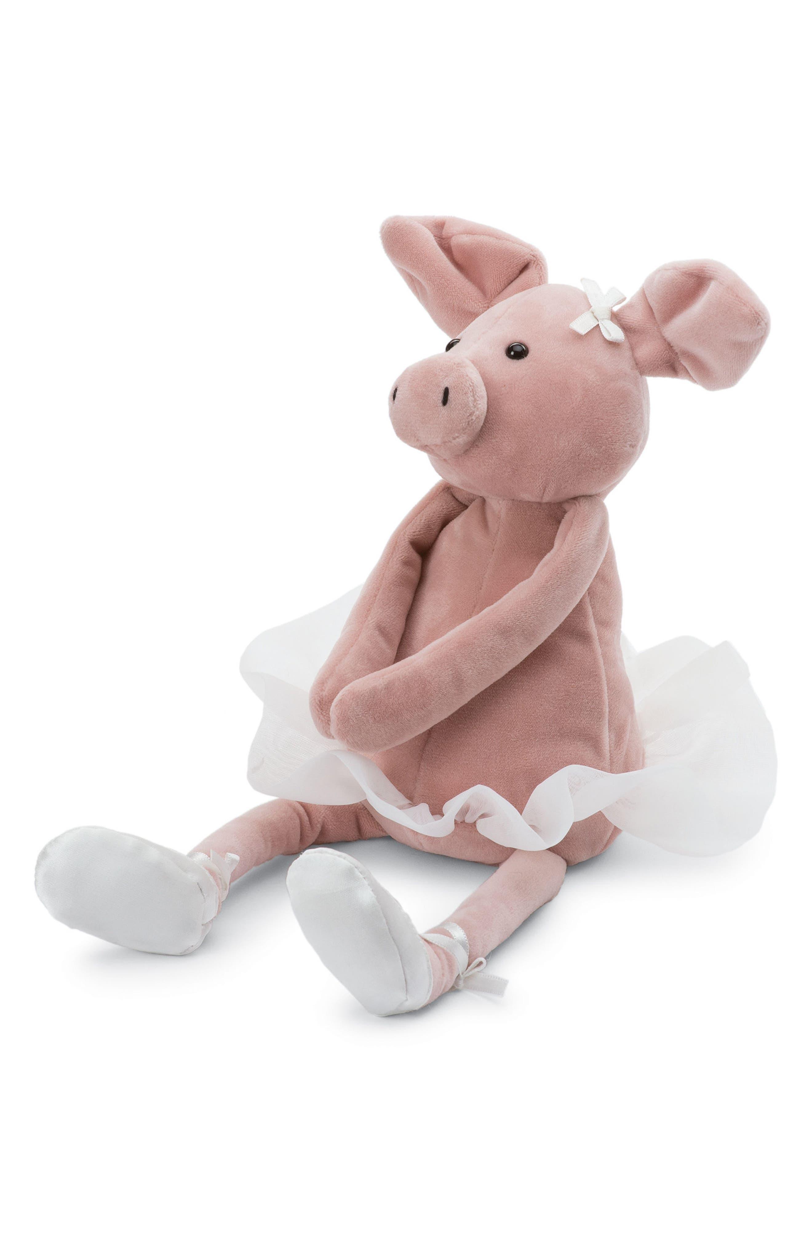 Dancing Darcey Piglet Stuffed Animal,                             Main thumbnail 1, color,                             Pink