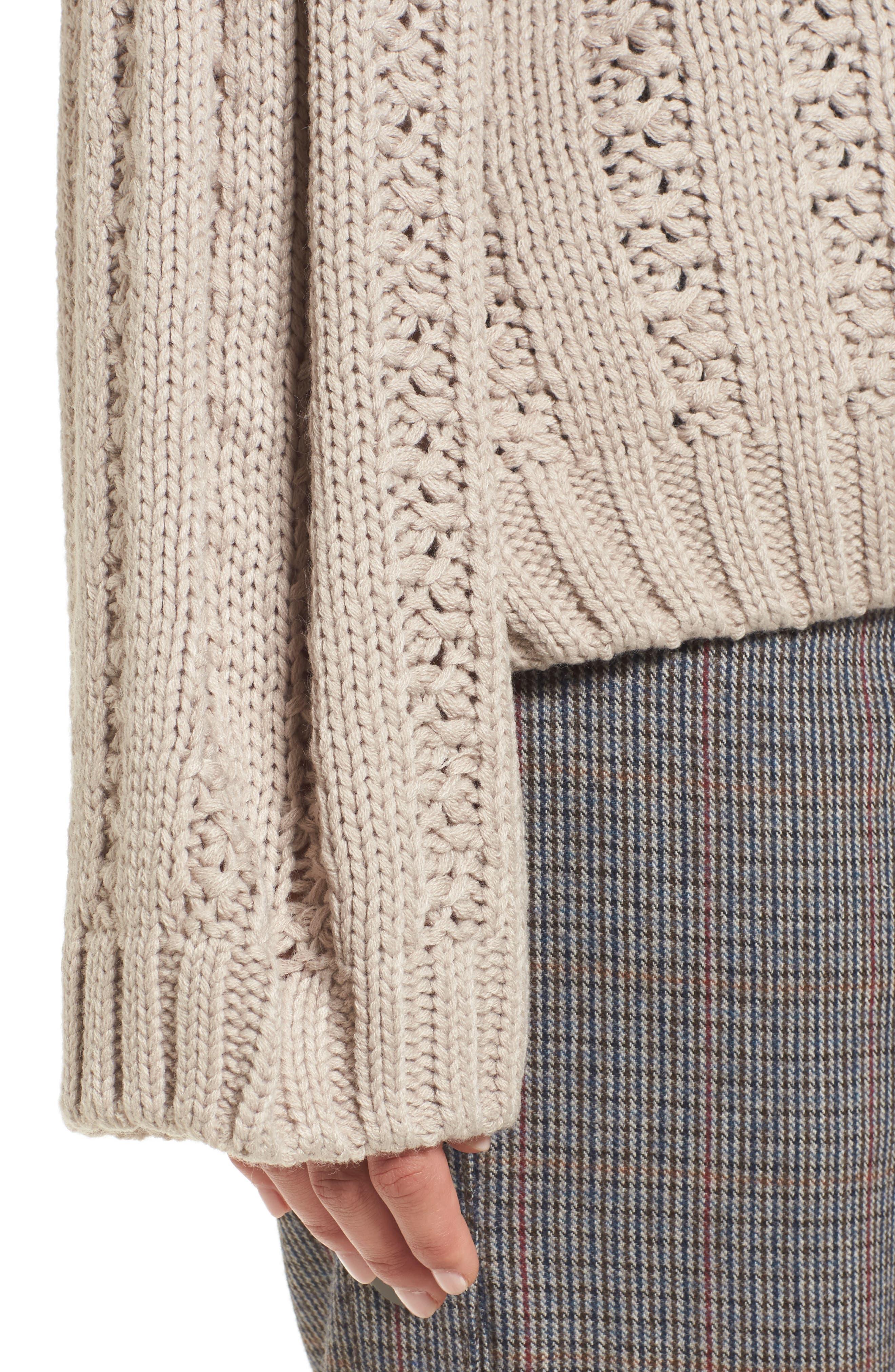 Alternate Image 4  - J.O.A. Chunky Textured Sweater