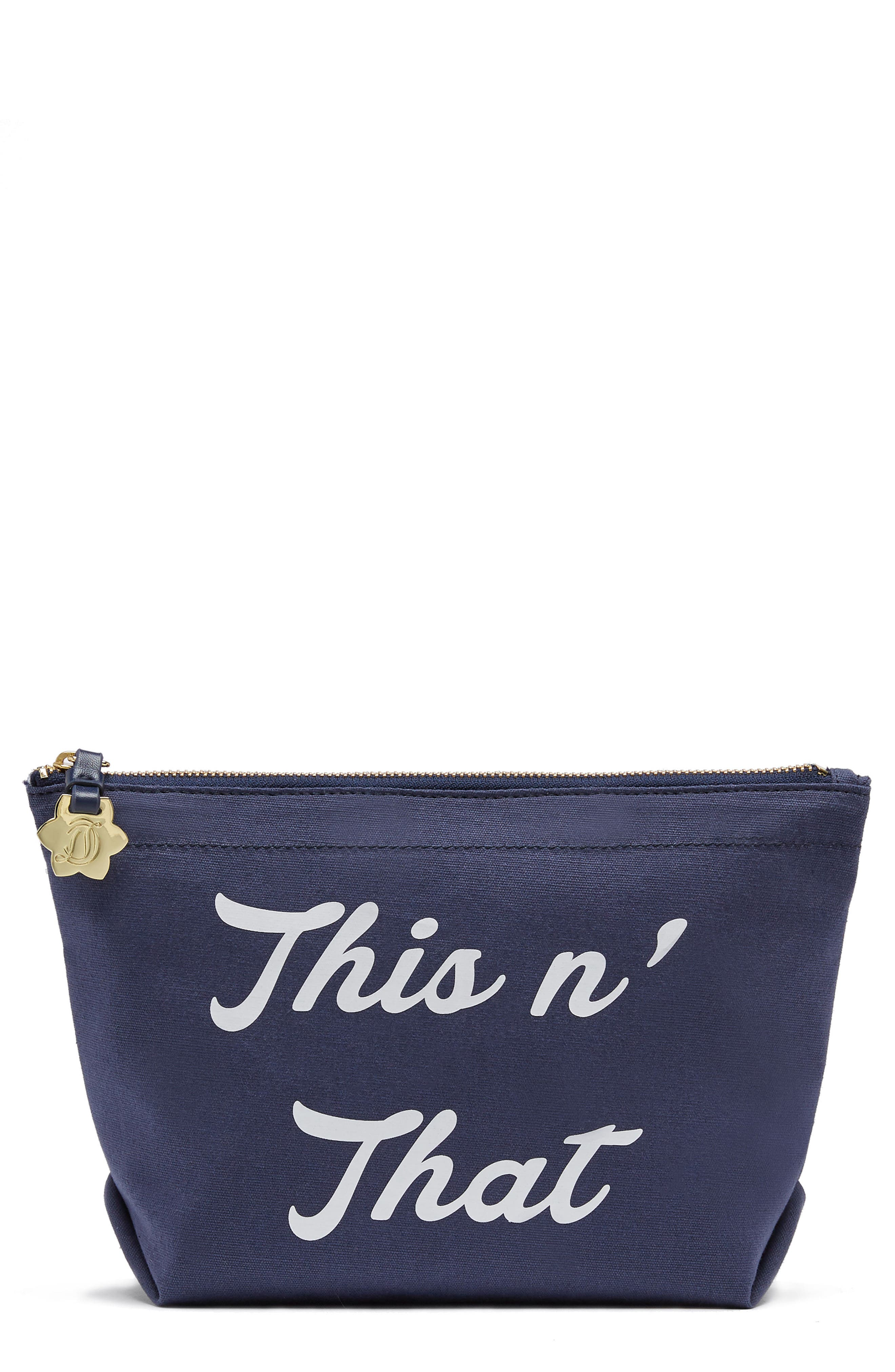 Alternate Image 1 Selected - Draper James This 'N That Canvas Pouch