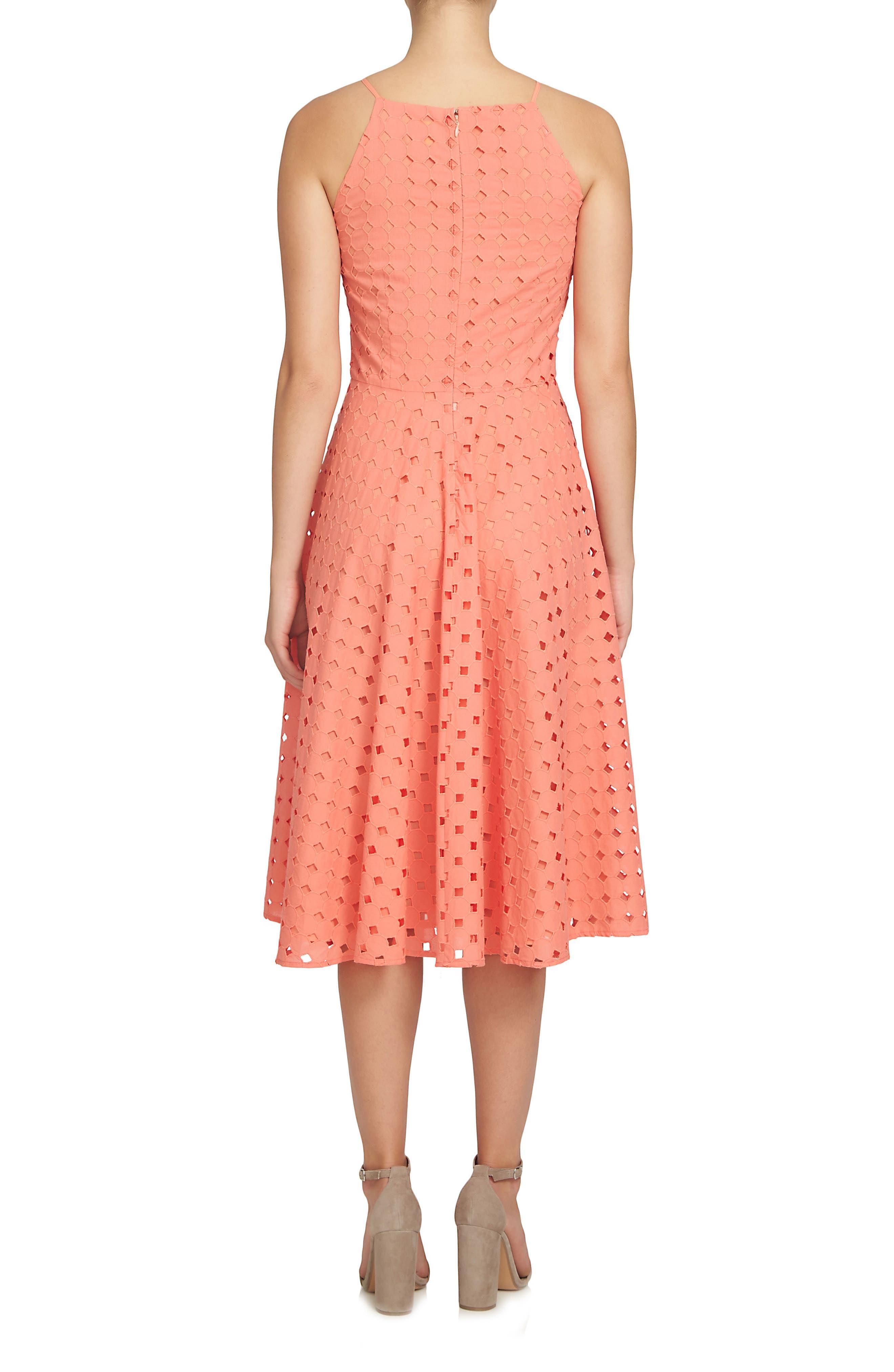 Alternate Image 2  - CeCe Bella Fit & Flare Dress (Regular & Petite)