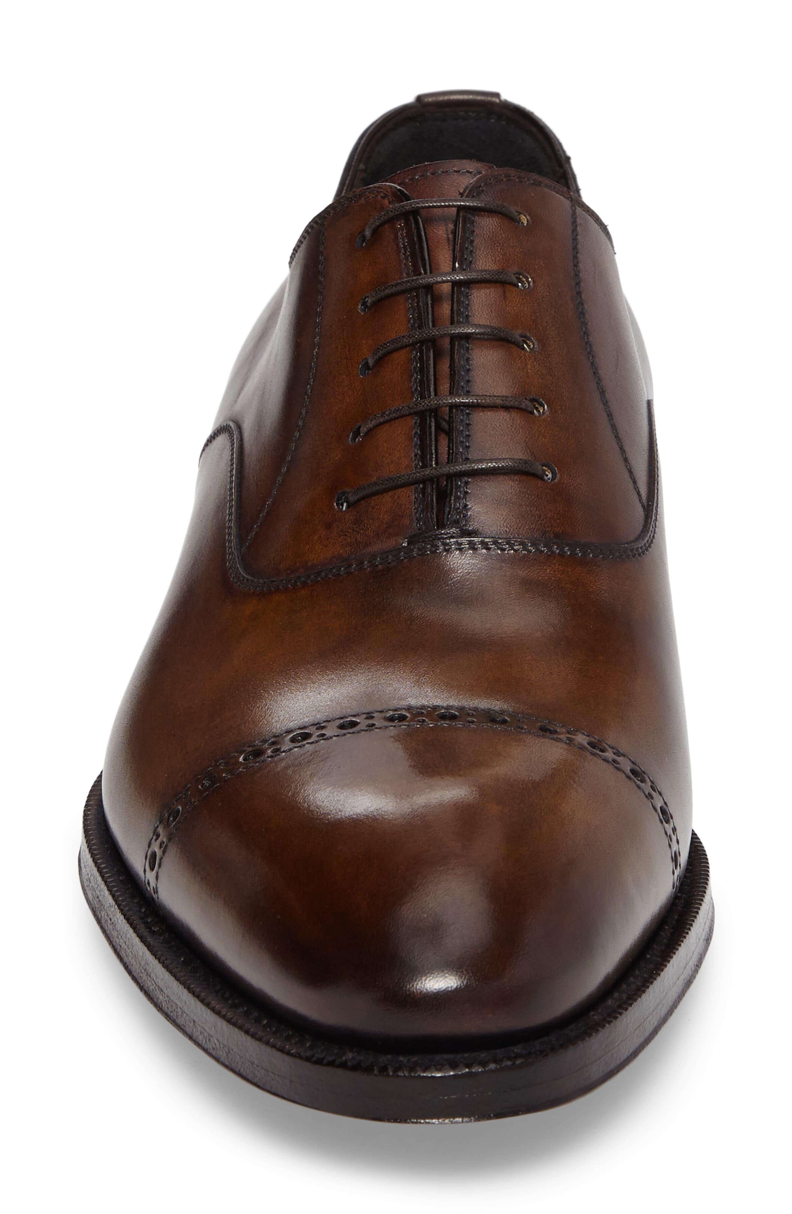 DiGallo Bianco Cap Toe Oxford,                             Alternate thumbnail 4, color,                             Zenzero Leather