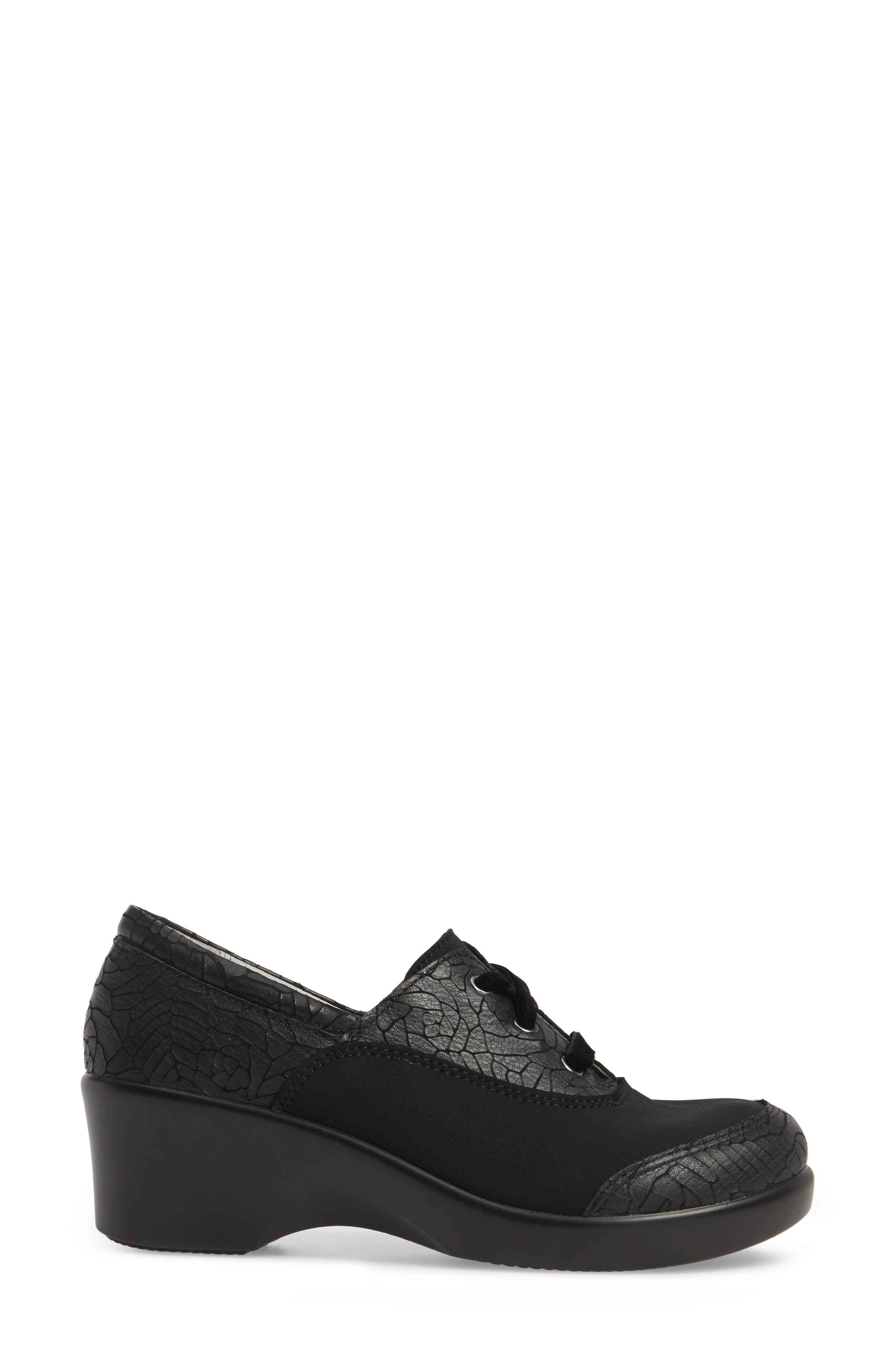Madi Lace-Up Shoe,                             Alternate thumbnail 3, color,                             Floral Notes Leather