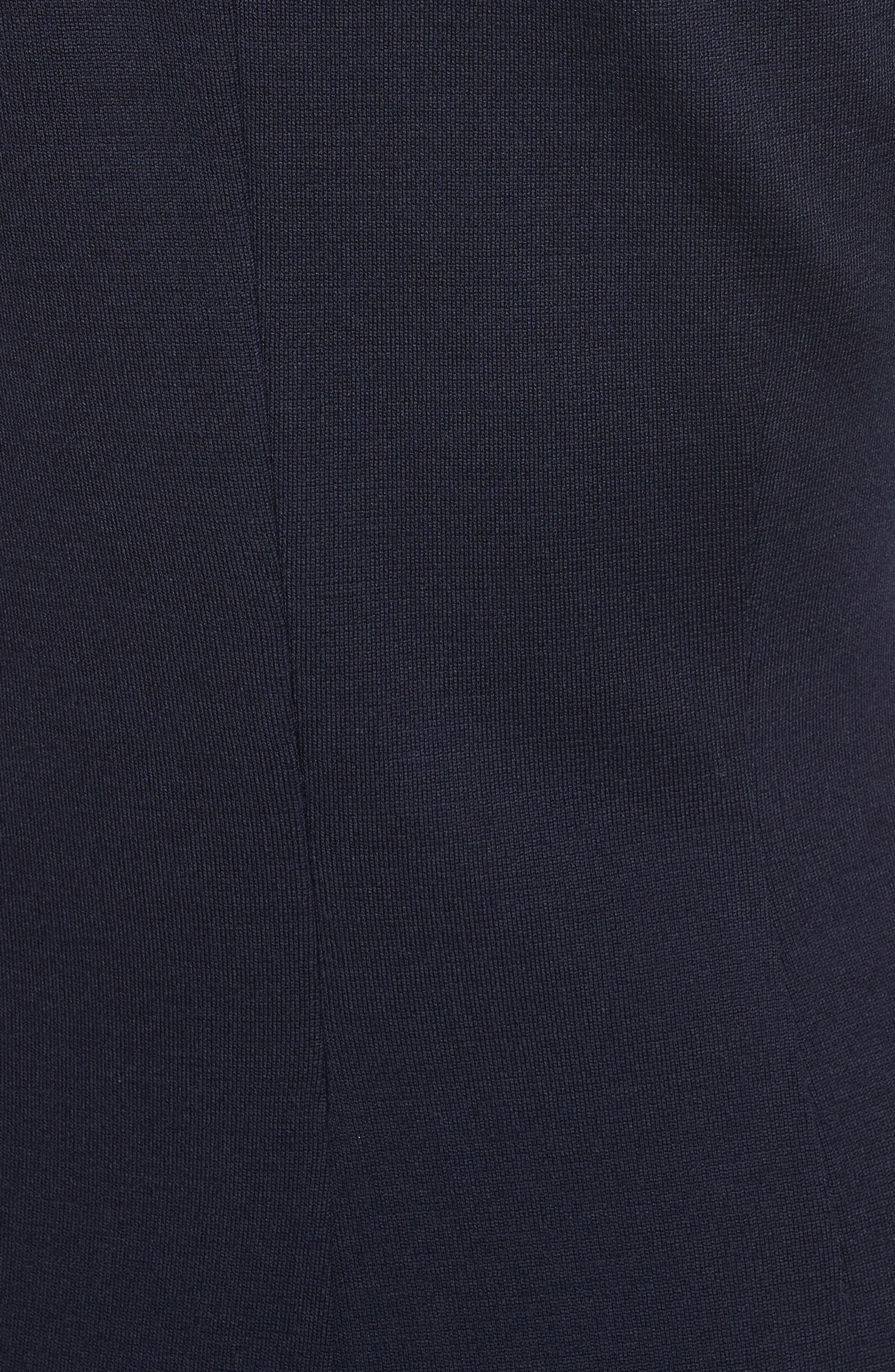 Milano Knit A-Line Dress,                             Alternate thumbnail 6, color,                             Navy