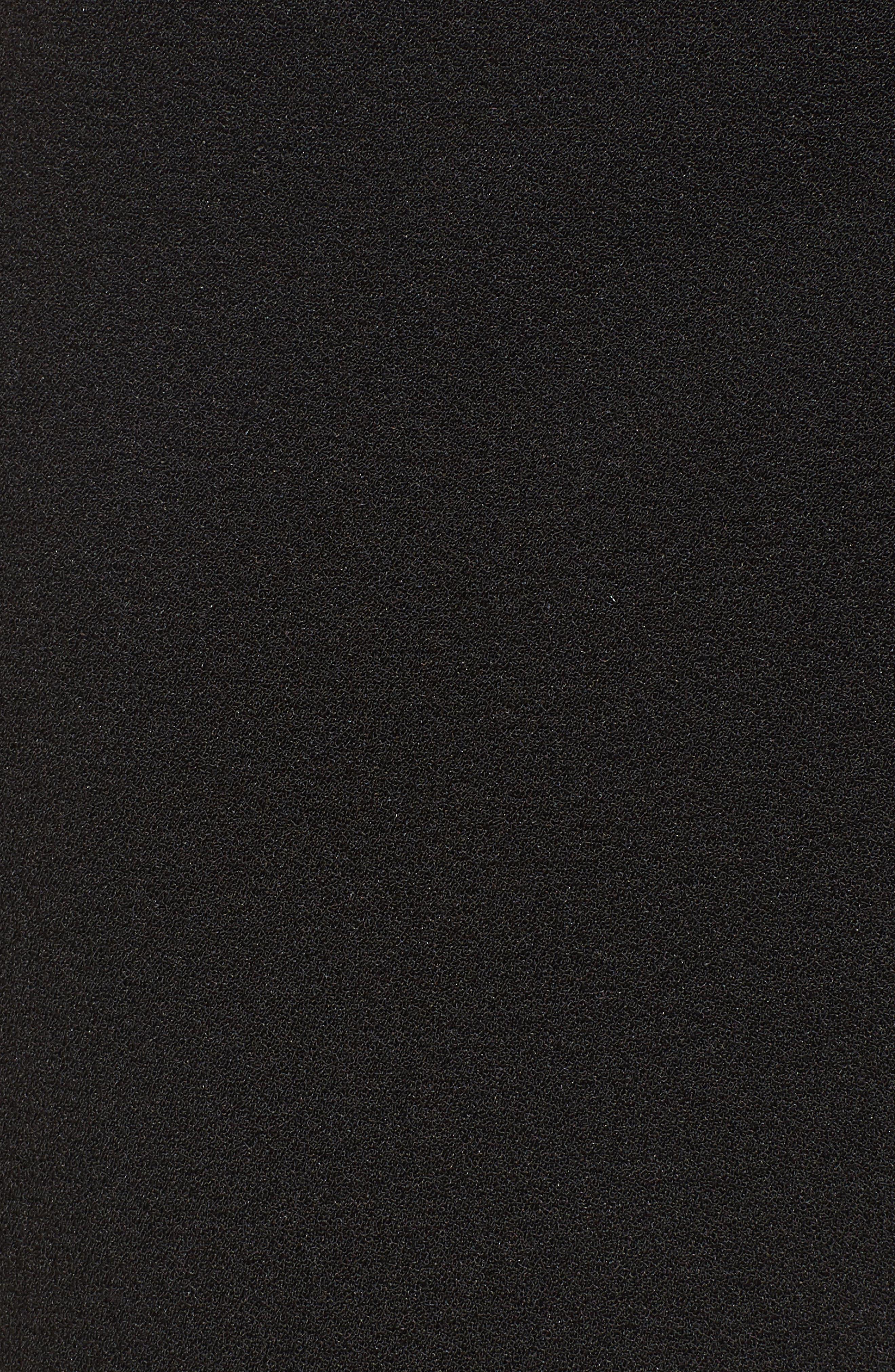 Gail Ruffle Hem Crop Pants,                             Alternate thumbnail 5, color,                             Black