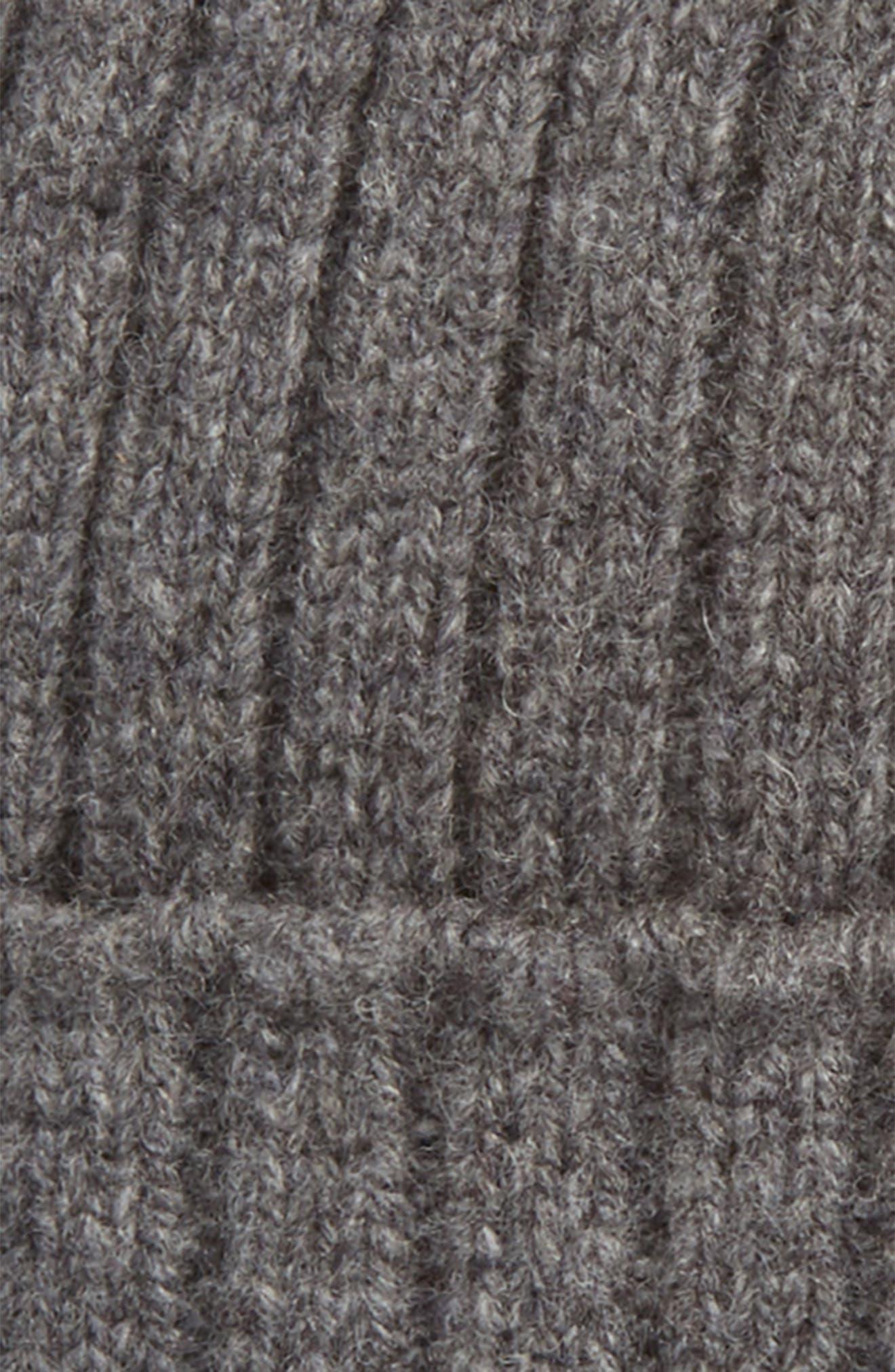 Wool Knit Cap,                             Alternate thumbnail 2, color,                             Gris Chine