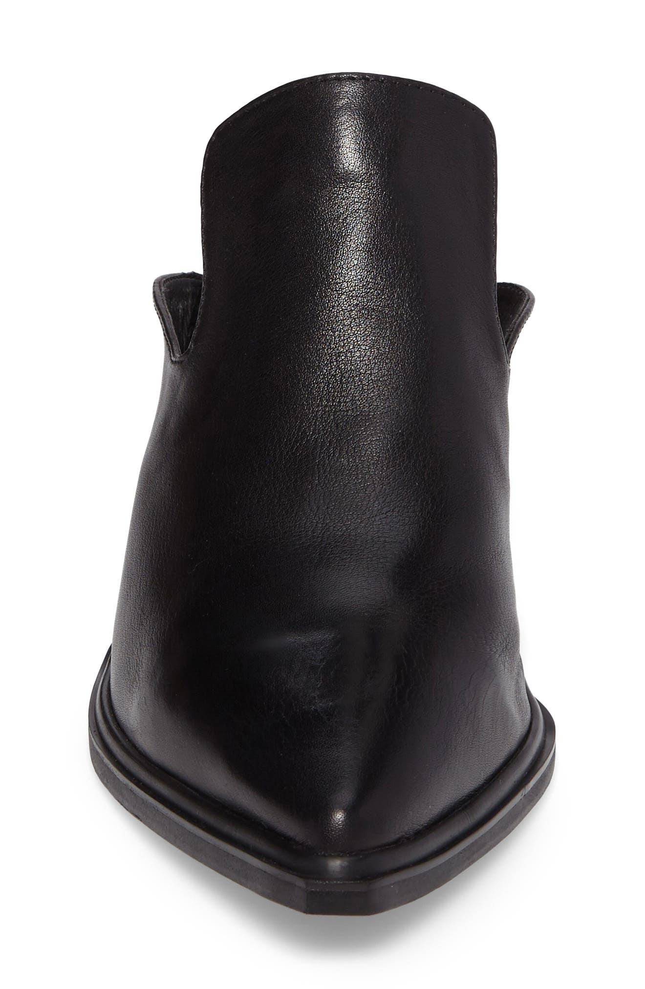Mulah Pointy Toe Mule,                             Alternate thumbnail 4, color,                             Black Leather