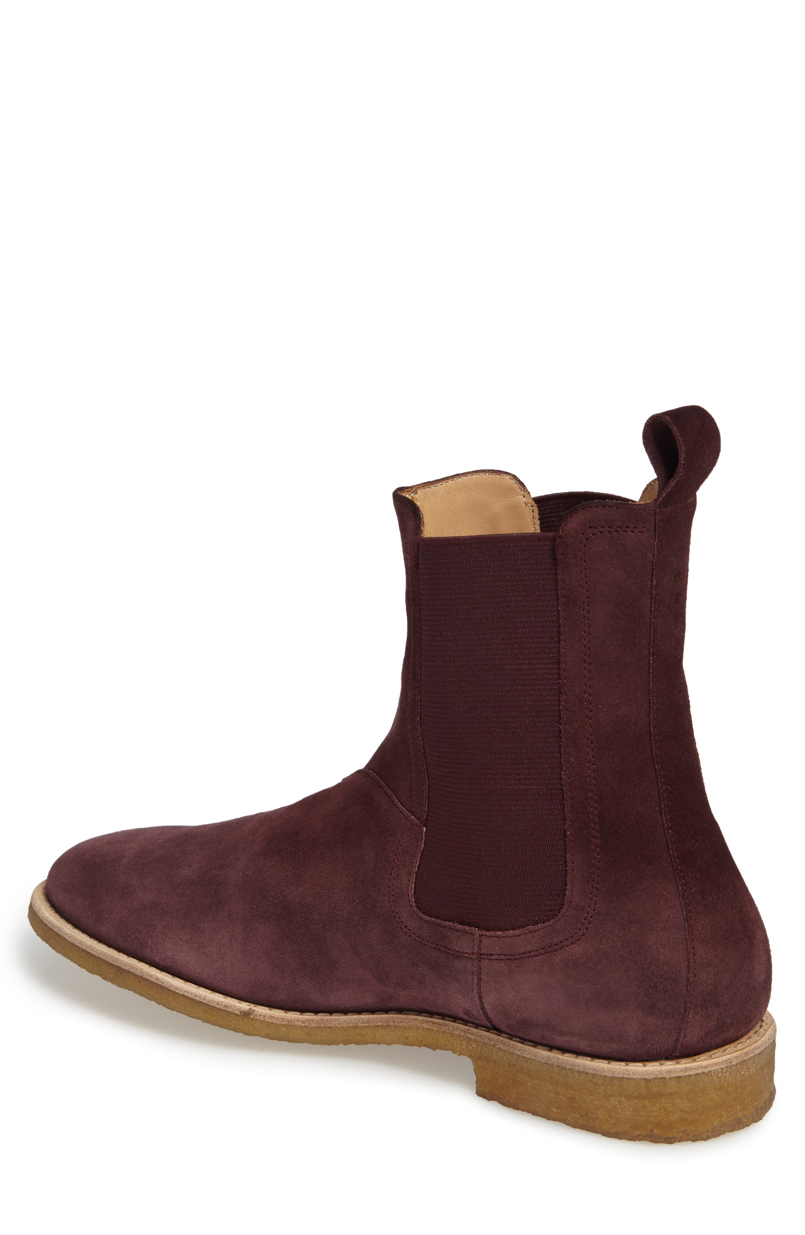 Chelsea Boot,                             Alternate thumbnail 3, color,                             Prunga Burgundy