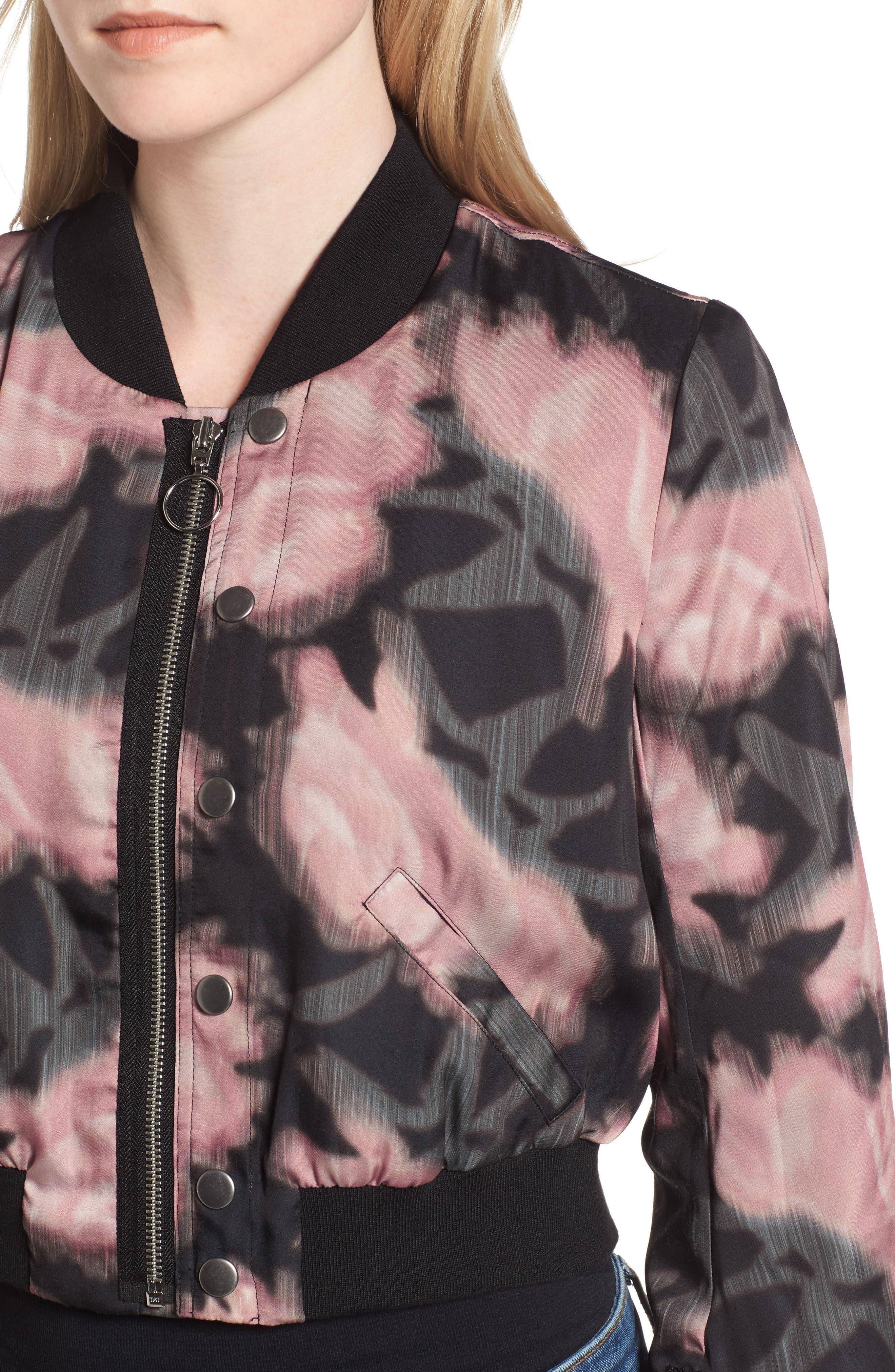 Alternate Image 4  - Joe's Denni Floral Bomber Jacket