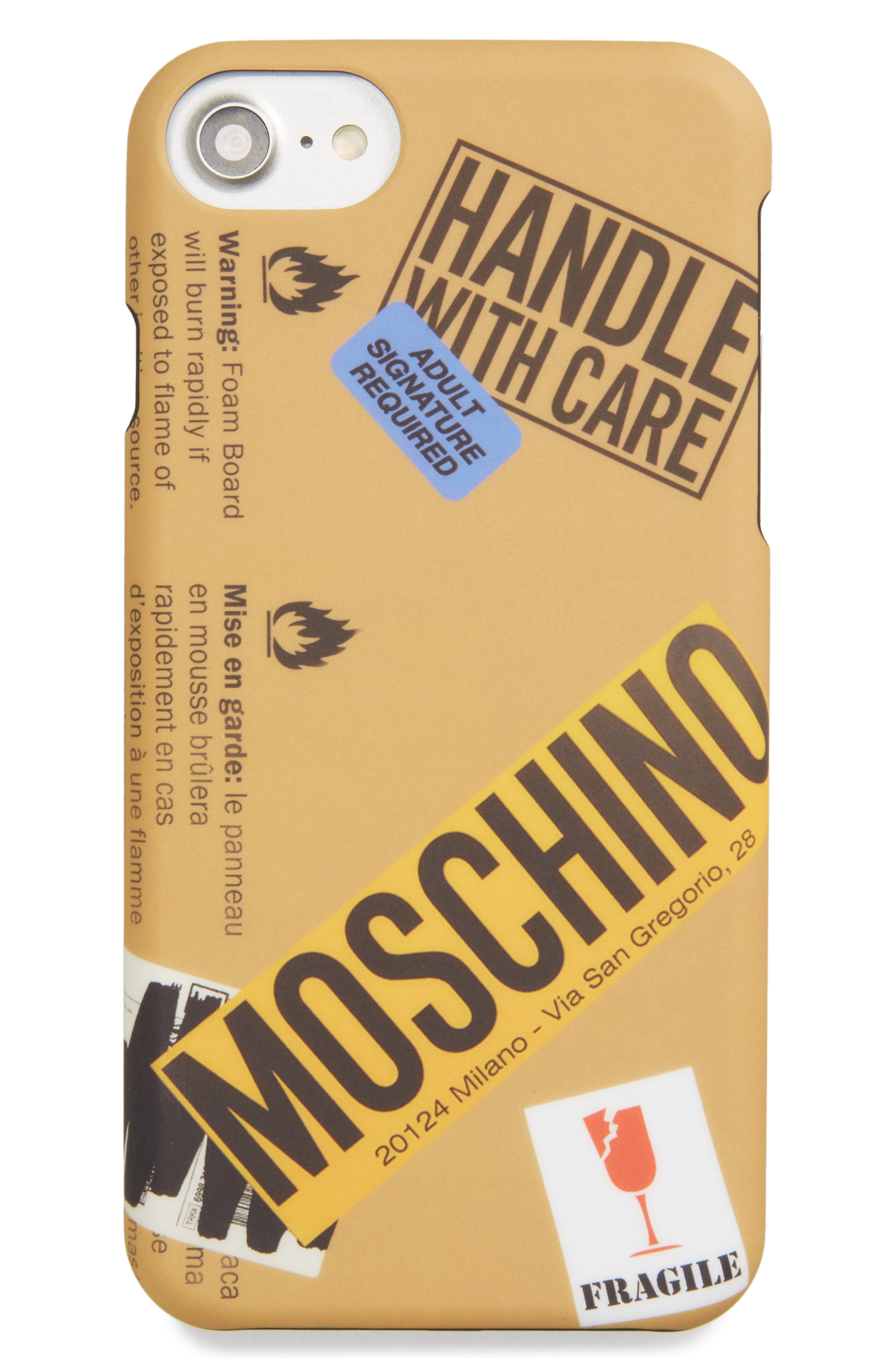 Alternate Image 1 Selected - Moschino Package iPhone 6/6S & 7 Case