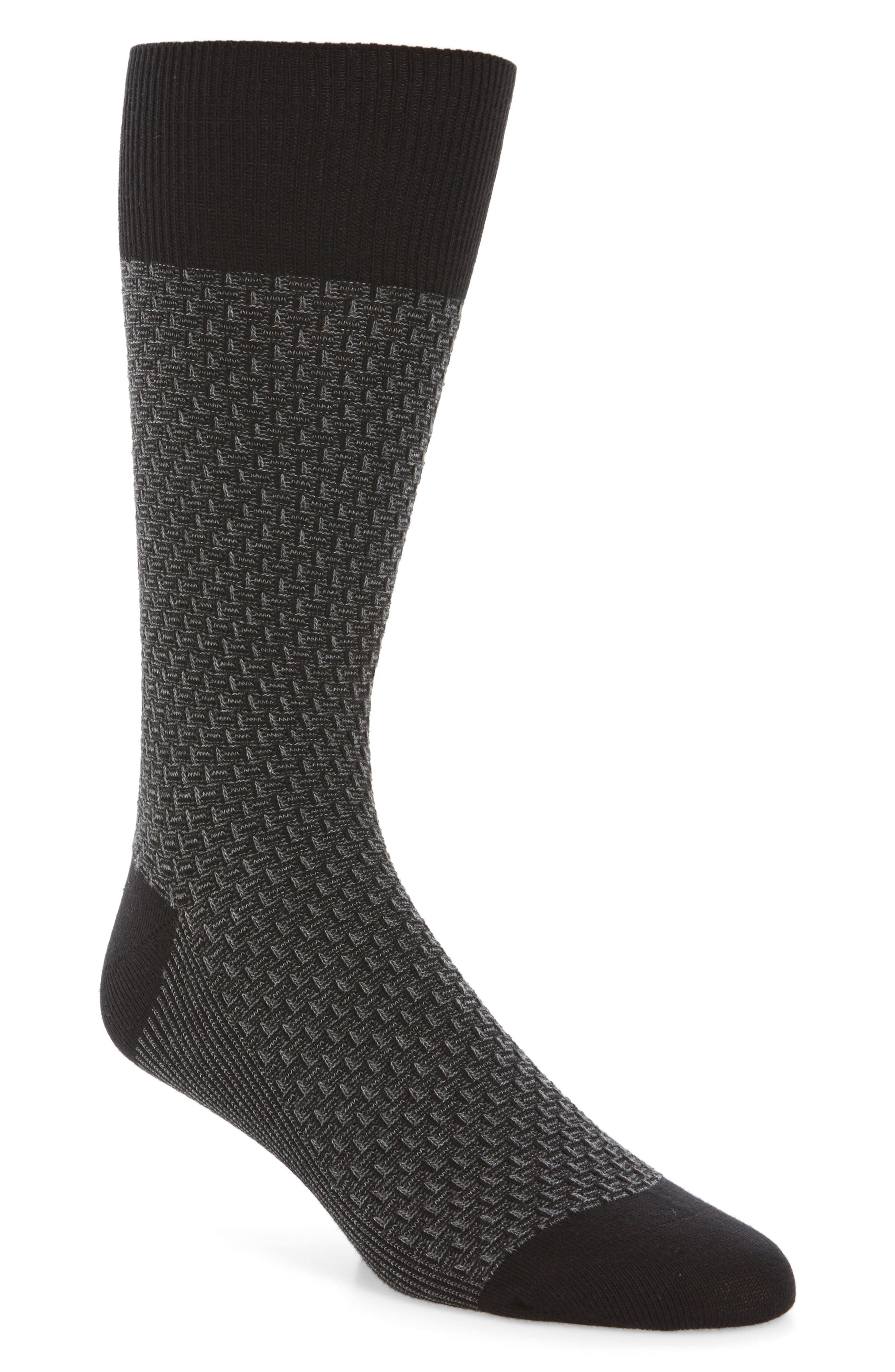 Main Image - Cole Haan Dog Bone Texture Crew Socks (3 for $30)