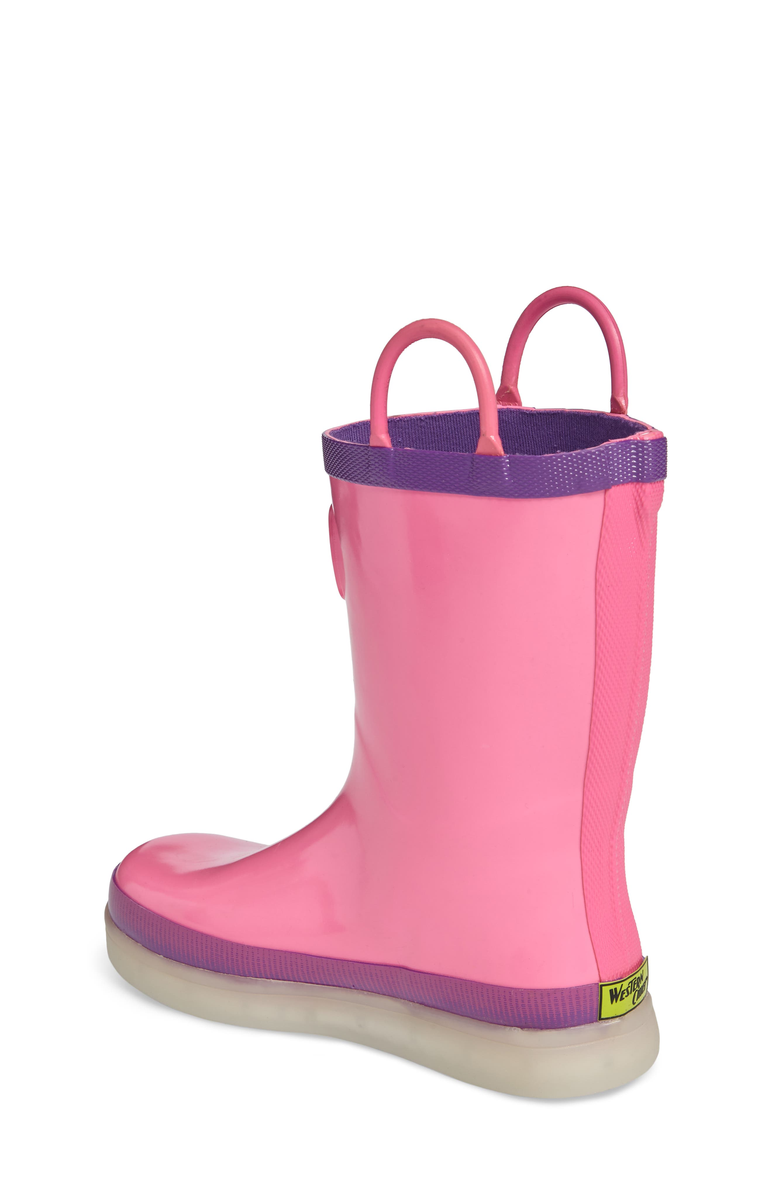 Alternate Image 2  - Western Chief Tech Solid LED Rain Boot (Toddler, Little Kid & Big Kid)