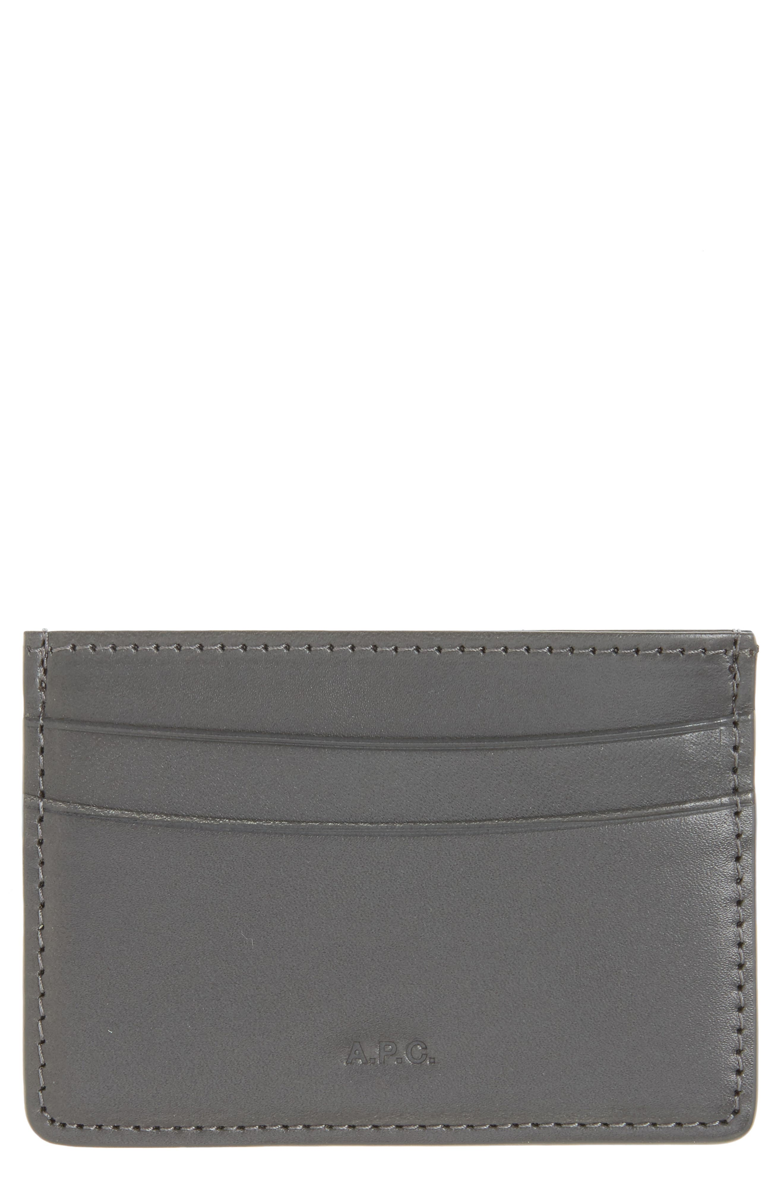 Alternate Image 1 Selected - A.P.C. Andre Leather Card Case