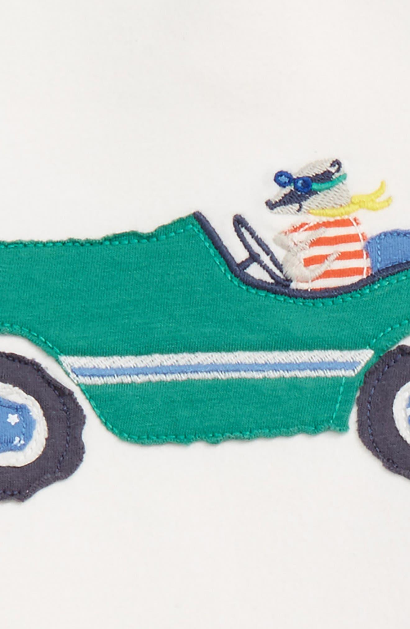 Appliqué T-Shirt & Print Pants Set,                             Alternate thumbnail 2, color,                             Grey Marl Vintage Cars