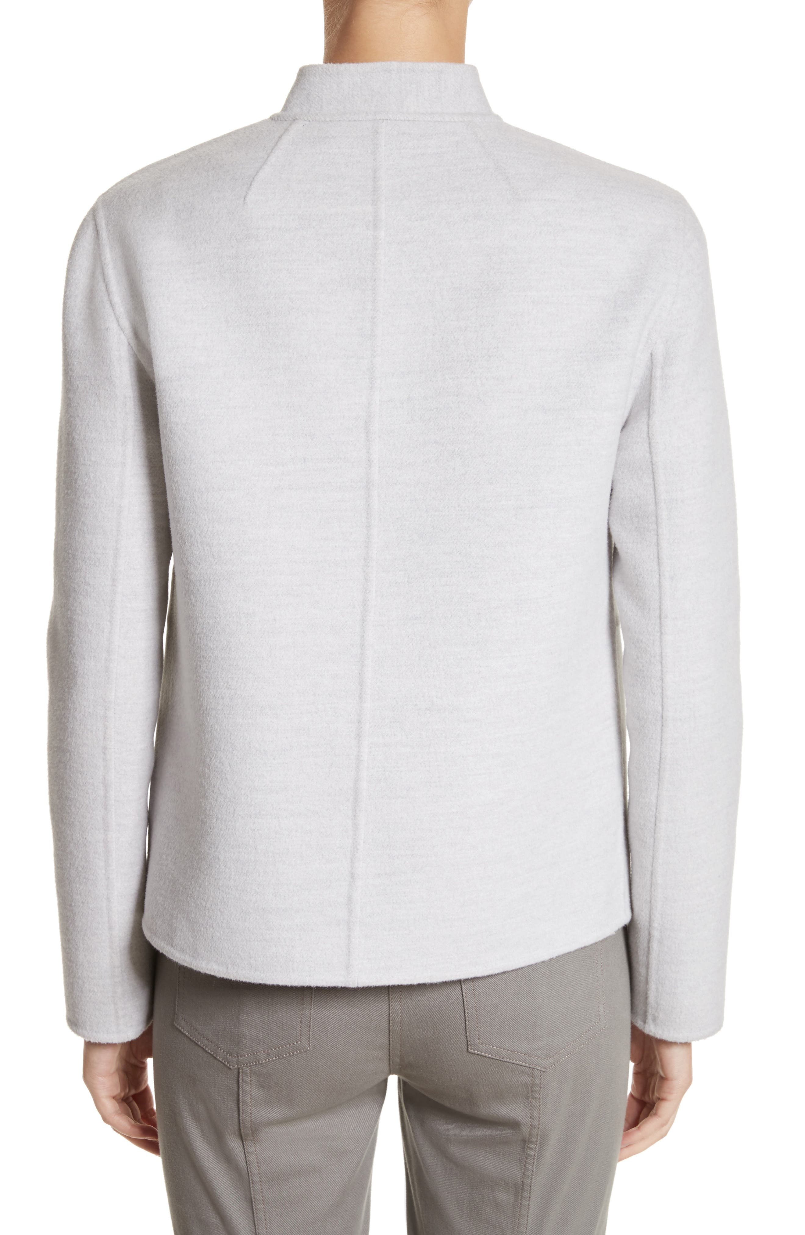Alternate Image 2  - St. John Collection Nehru Collar Double Face Jacket