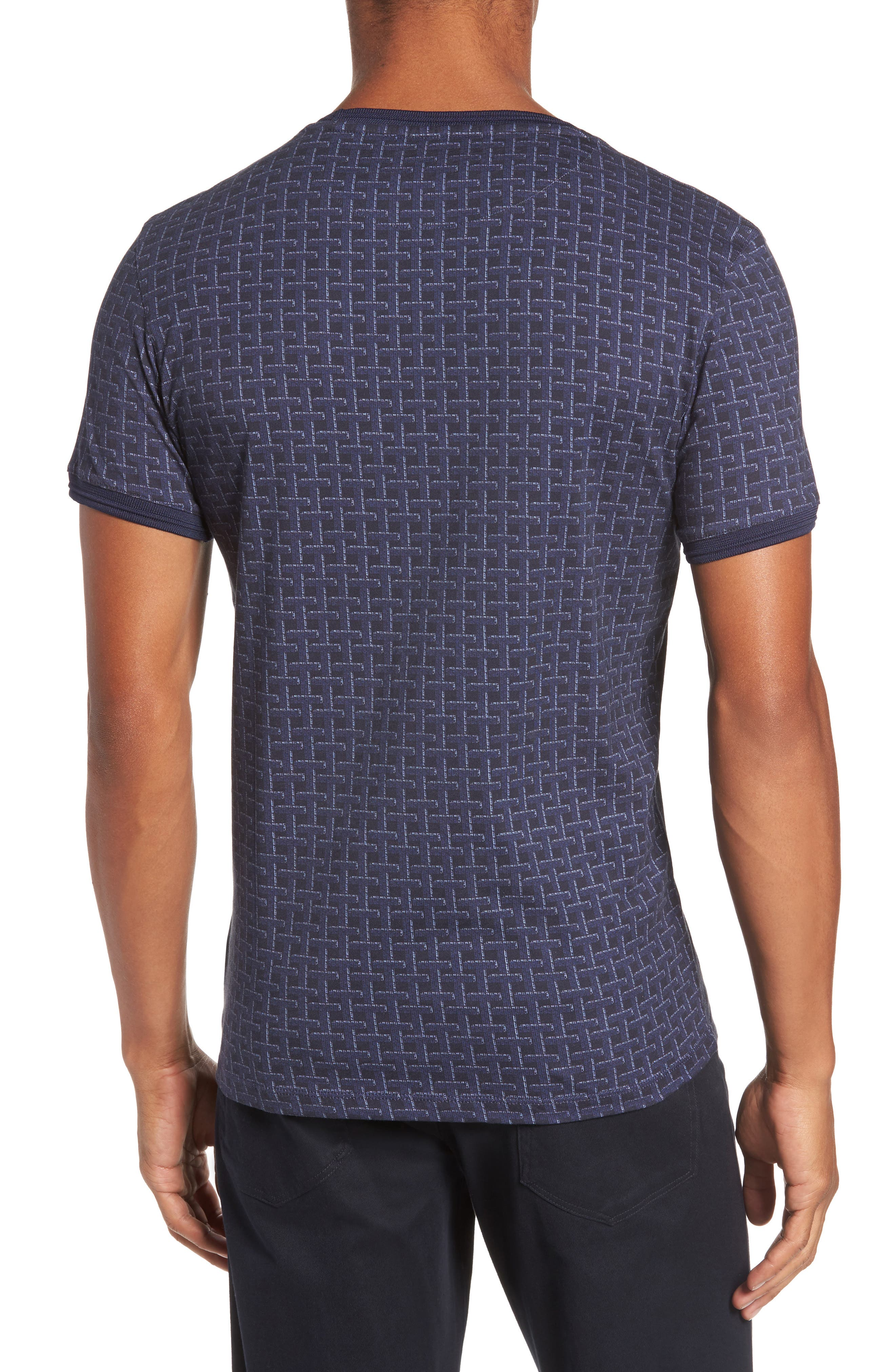 Hillman Print Pocket T-Shirt,                             Alternate thumbnail 2, color,                             Mid Blue