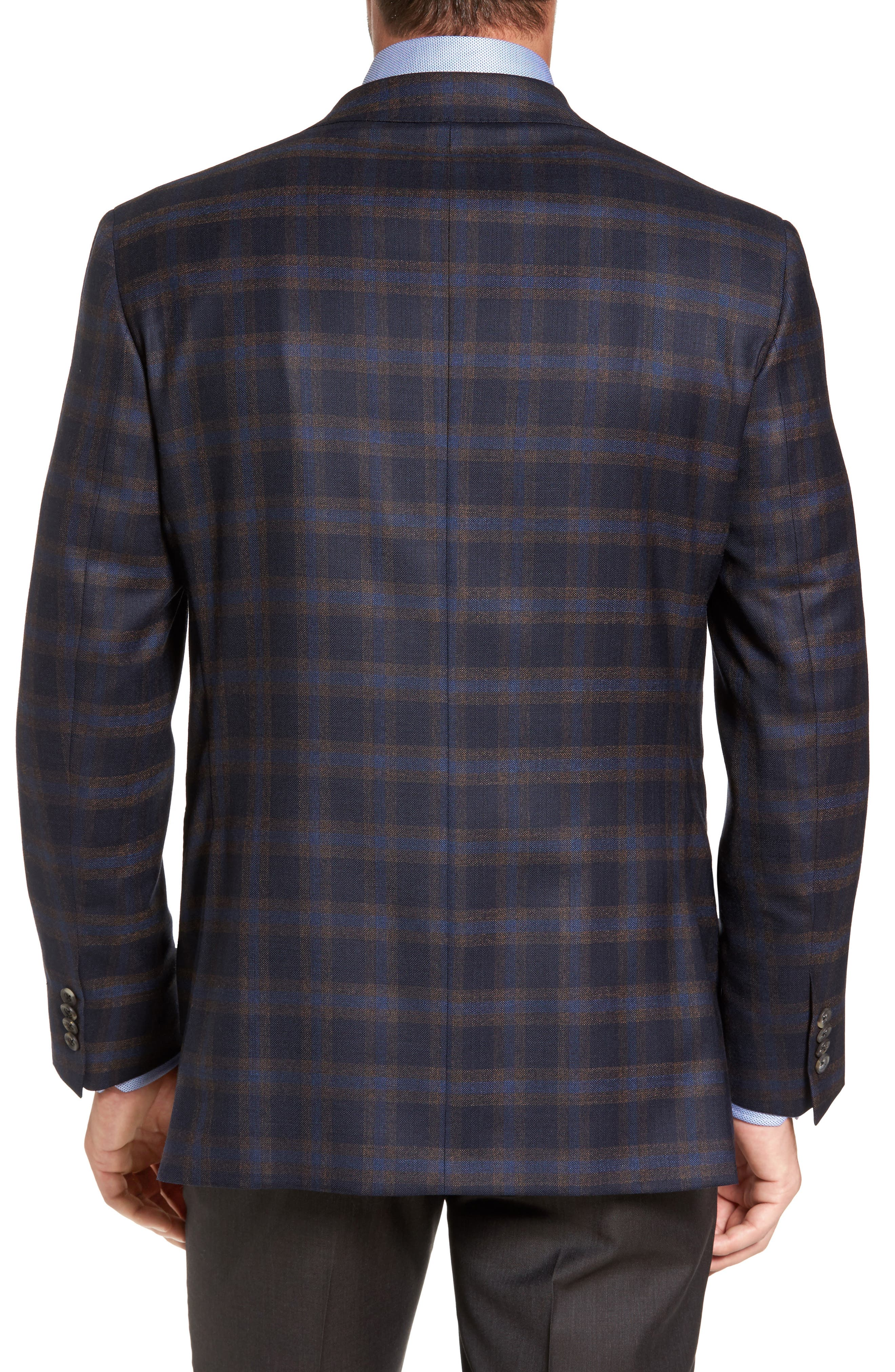Alternate Image 2  - David Donahue Connor Classic Fit Check Wool Sport Coat