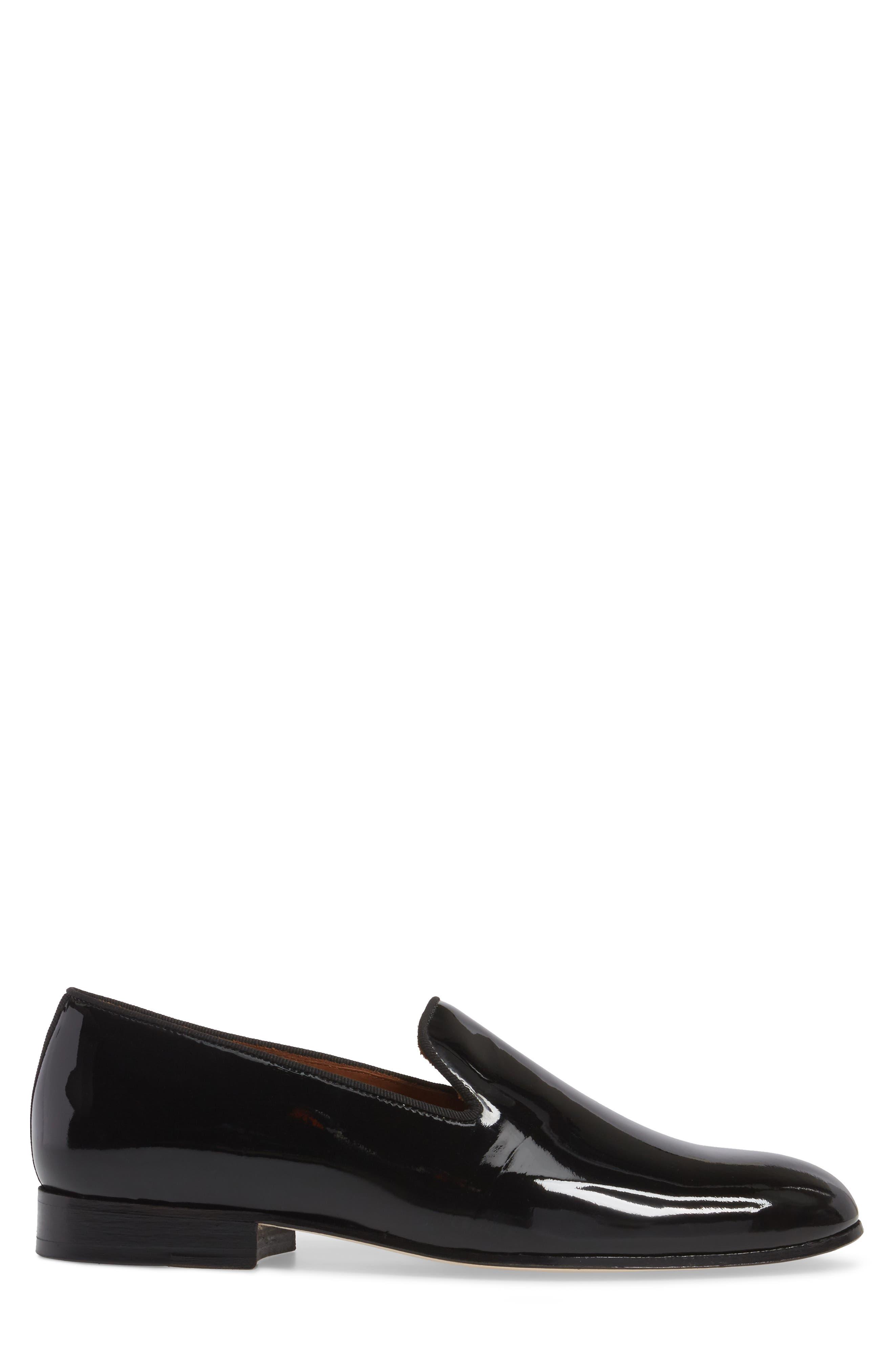 Bravi Loafer,                             Alternate thumbnail 3, color,                             Black Patent Leather