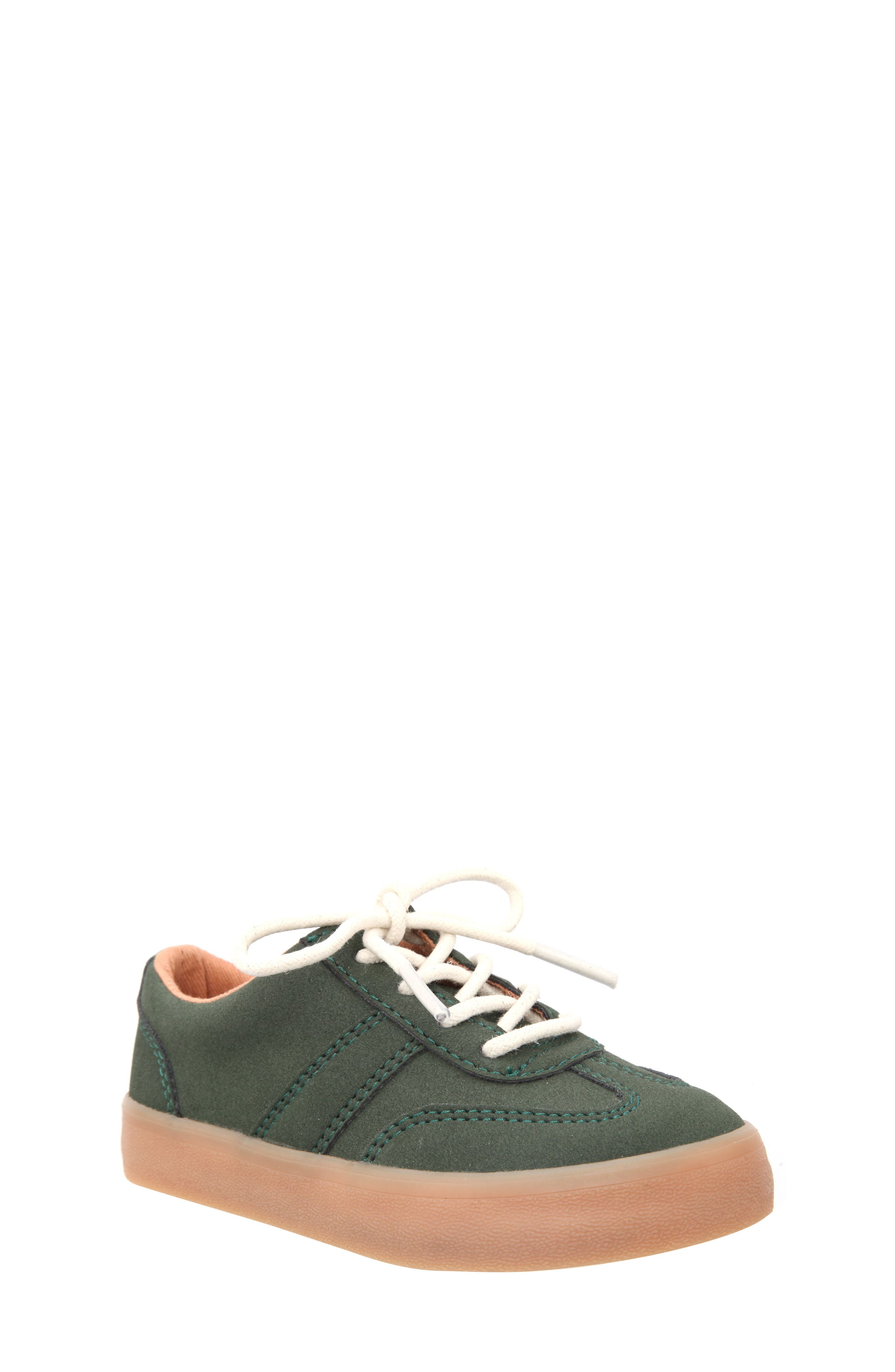Neal Low Top Sneaker,                             Main thumbnail 1, color,                             Olive Suede